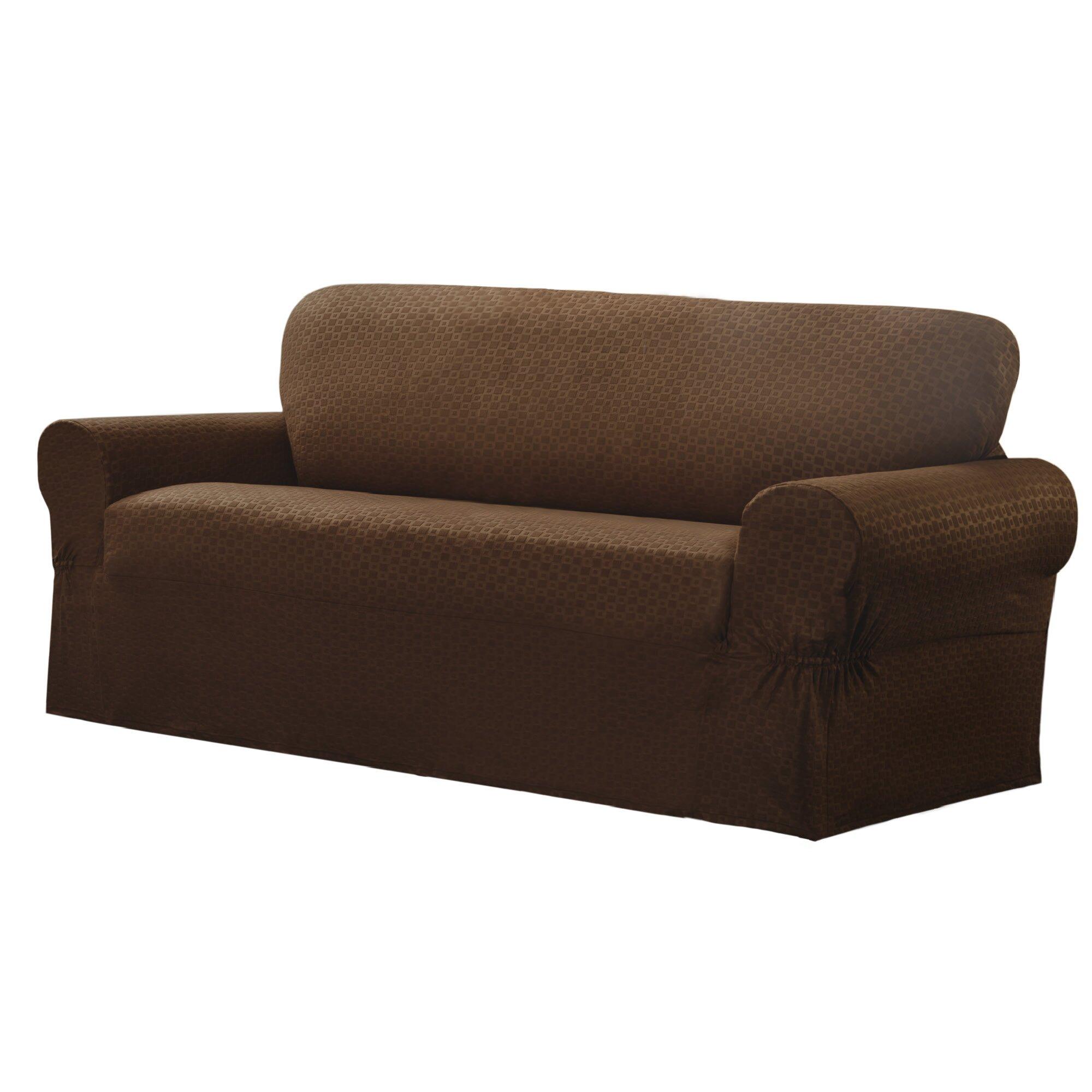 maytex conrad stretch sofa box cushion slipcover reviews. Black Bedroom Furniture Sets. Home Design Ideas
