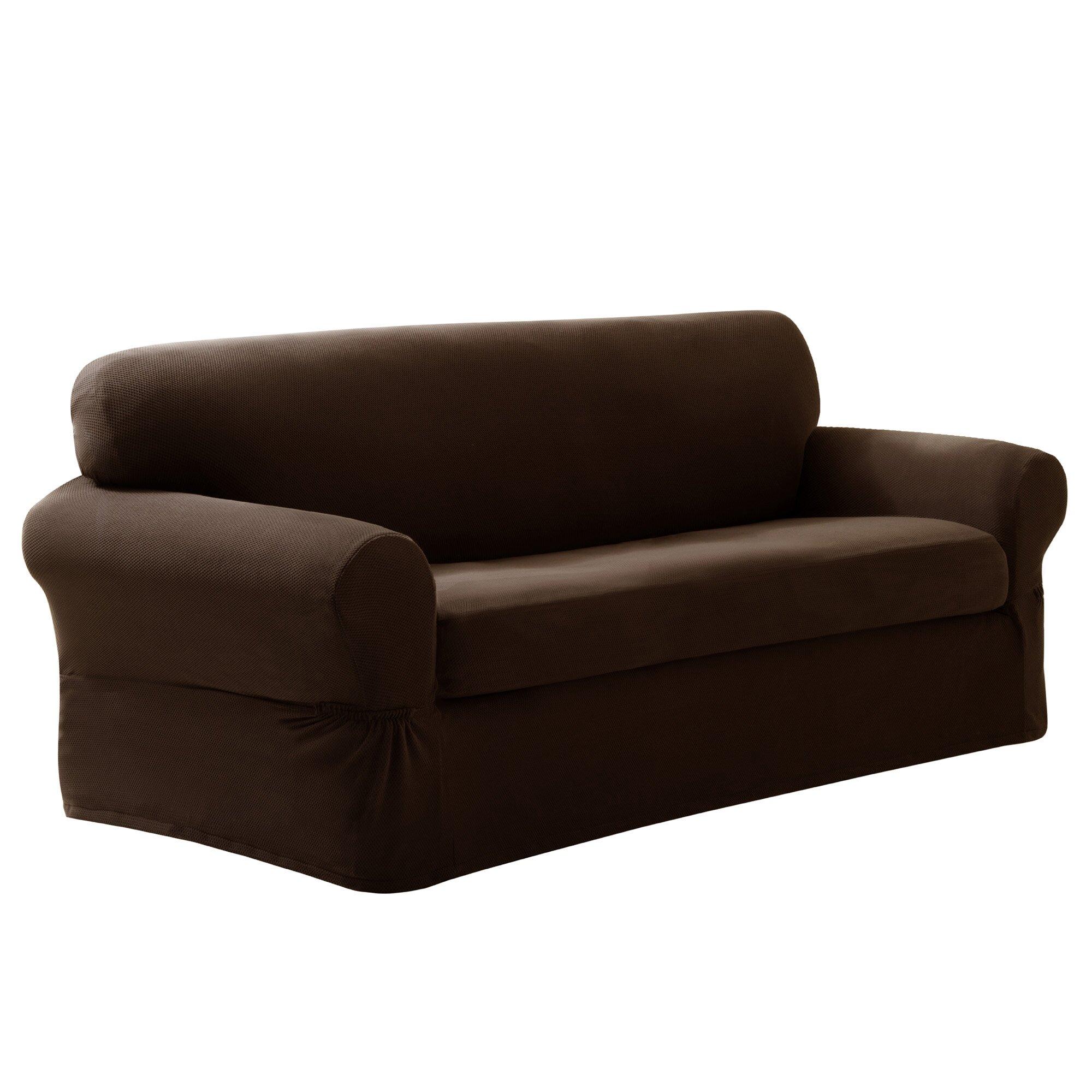 Maytex Pixel Stretch 2 Piece Sofa Box Cushion Slipcover