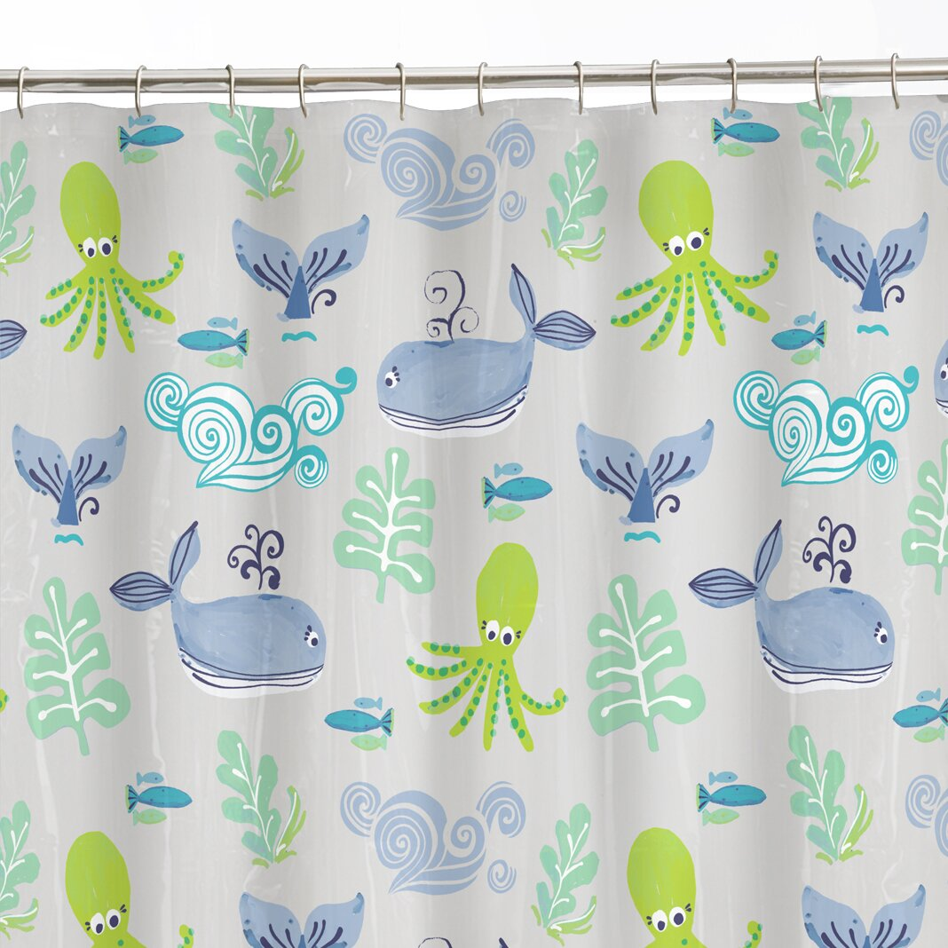 Maytex Sea Creatures Shower Curtain Reviews Wayfair