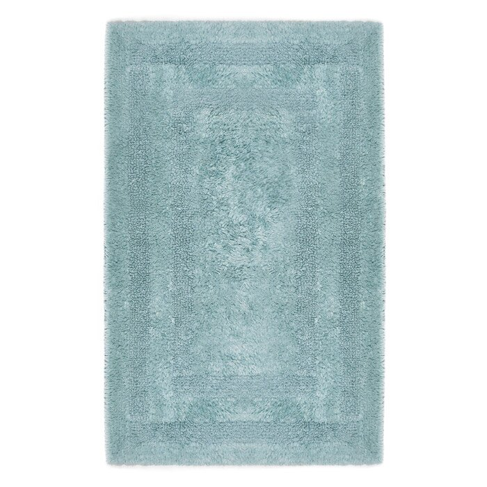 Home Source International Reversible Cotton Bath Rug