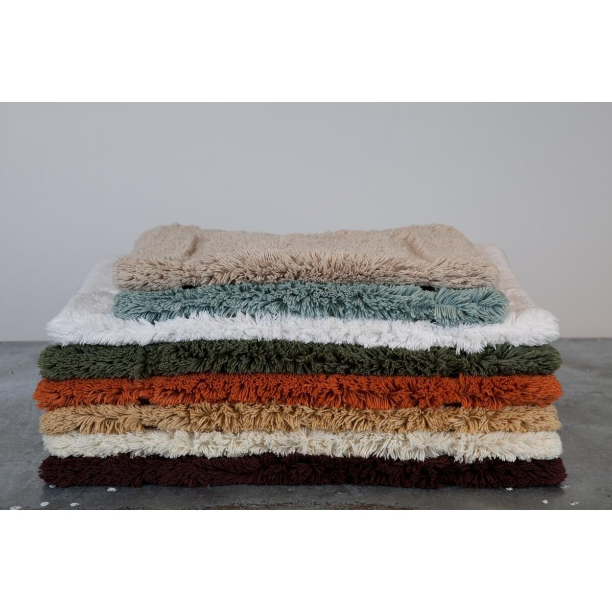 Home source international egyptian quality cotton non slip for International decor bath rugs