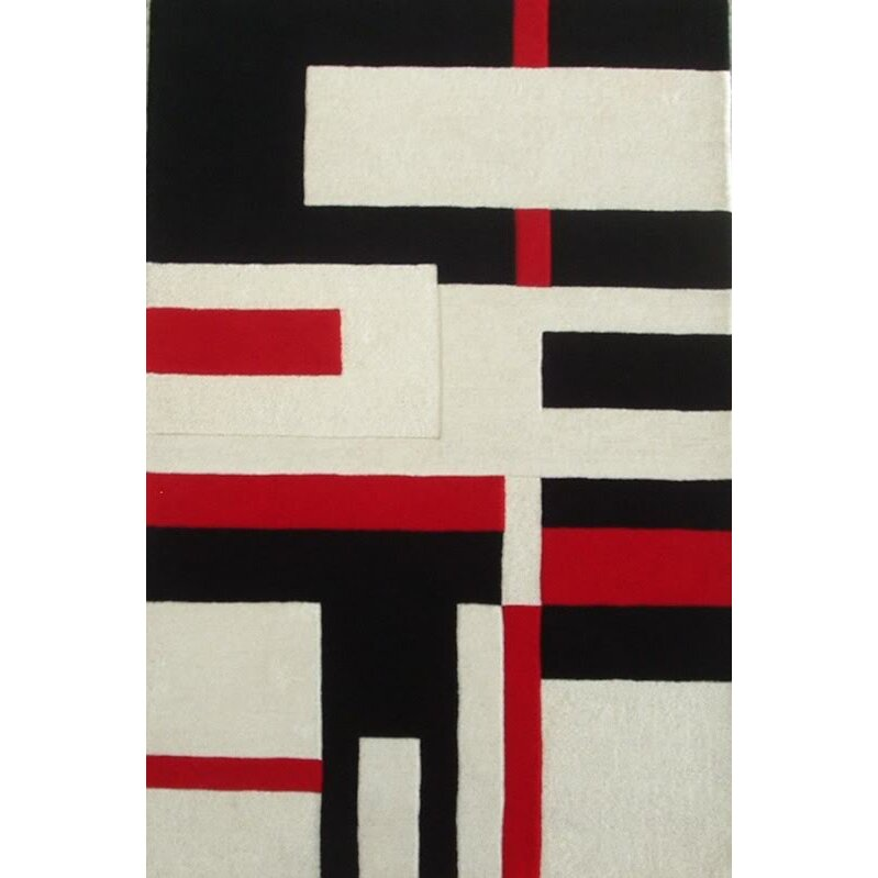 Acura Rugs Modern Cool Red/White Area Rug & Reviews