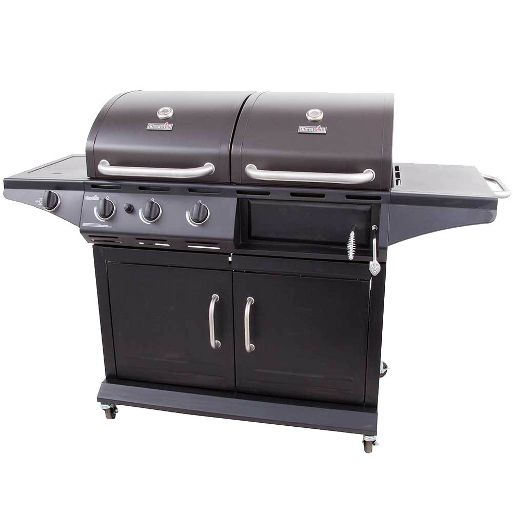 charbroil 2 in 1 charcoal and 3 burner gas deluxe combo grill with side burner reviews wayfair. Black Bedroom Furniture Sets. Home Design Ideas