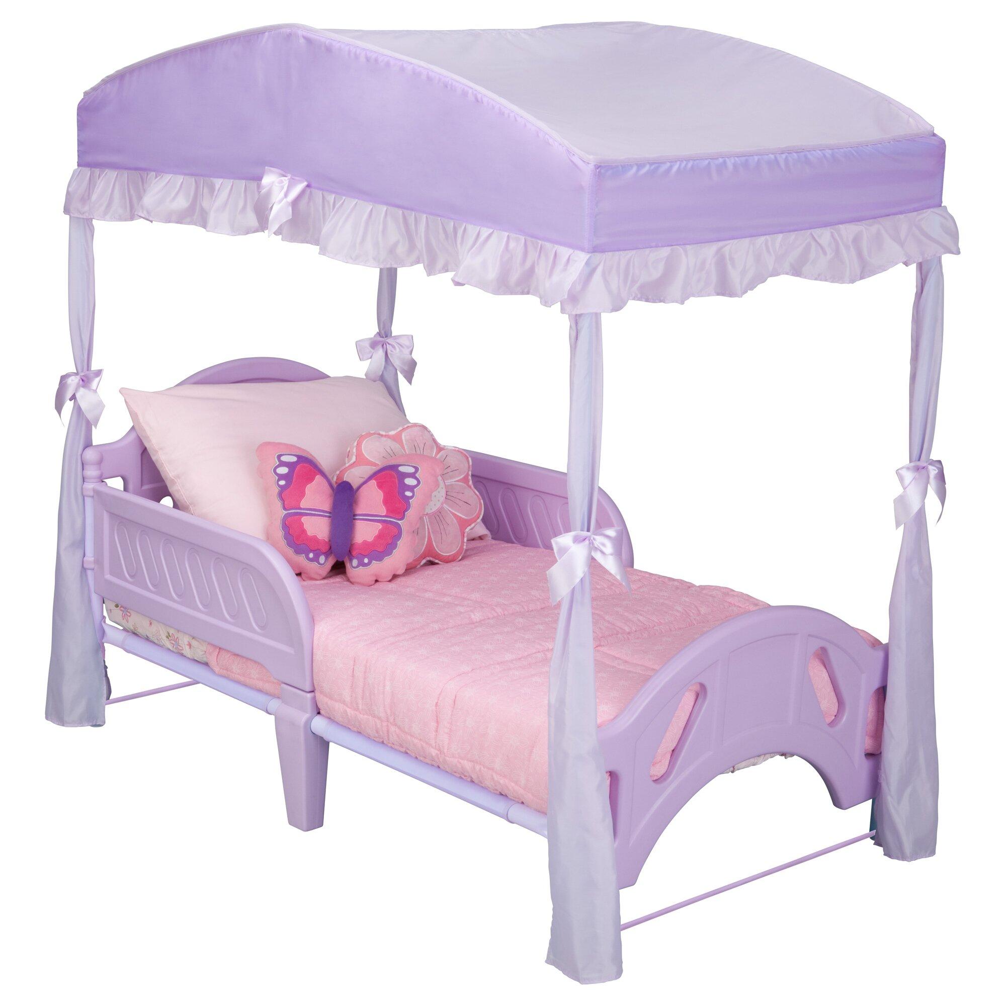 Delta Children Children S Girls Canopy For Toddler Bed