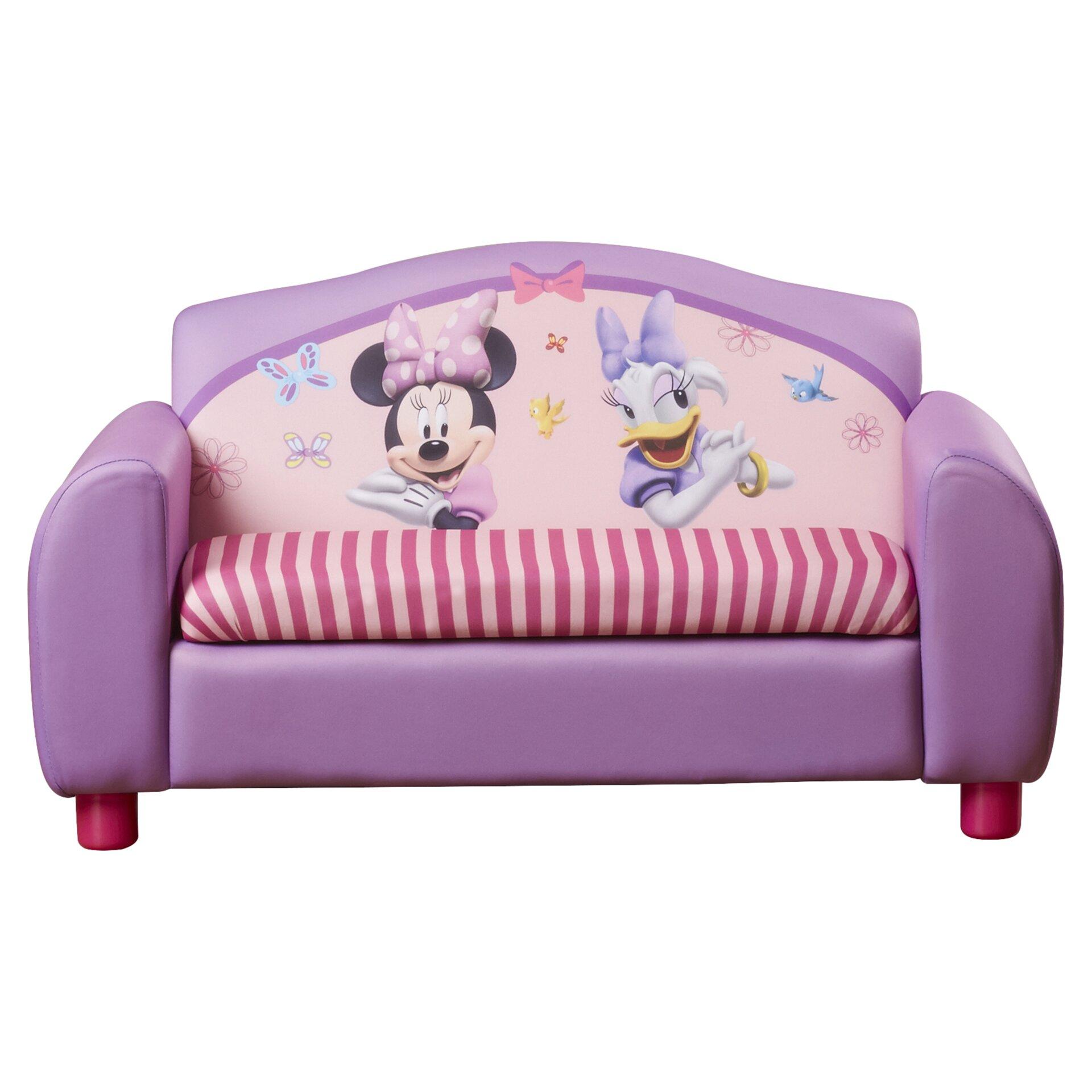 Delta Children Disney Minnie Mouse Kids Sofa With Storage Compartment Reviews Wayfair Supply