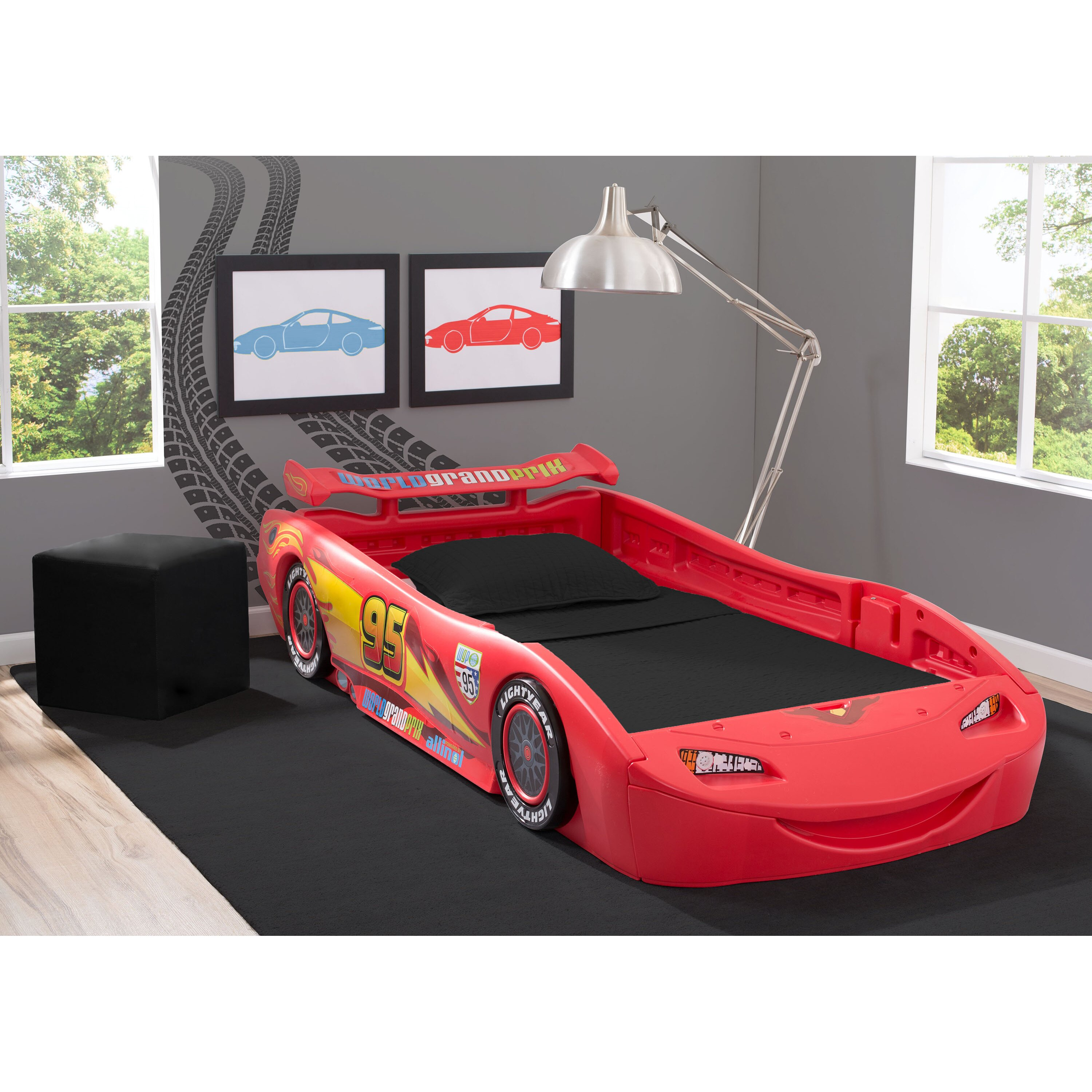 delta children disney pixar cars twin bed with lights reviews