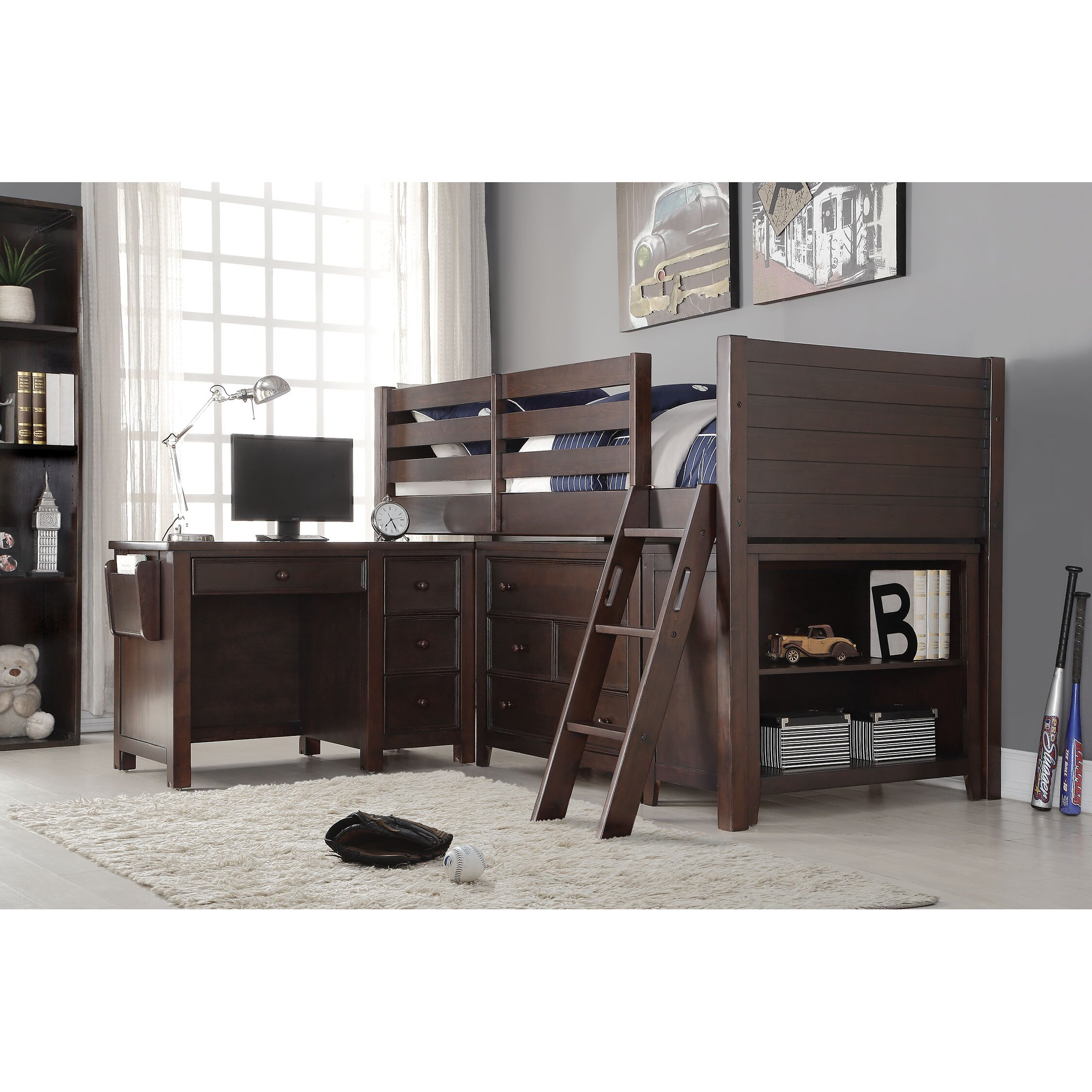 Acme furniture lacey loft 2 piece bedroom set for Loft furniture