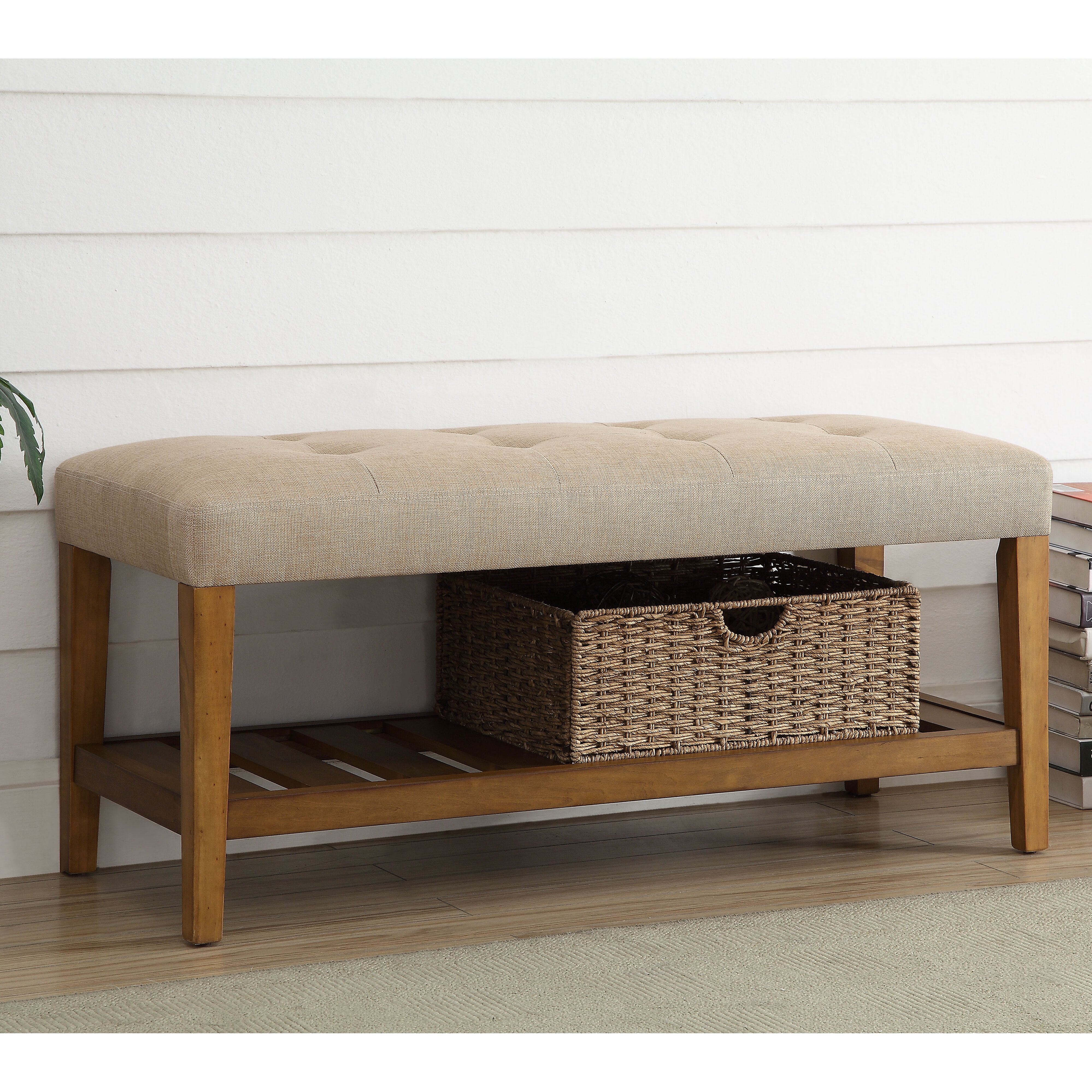 ACME Furniture Charla Upholstered Entryway Bench & Reviews
