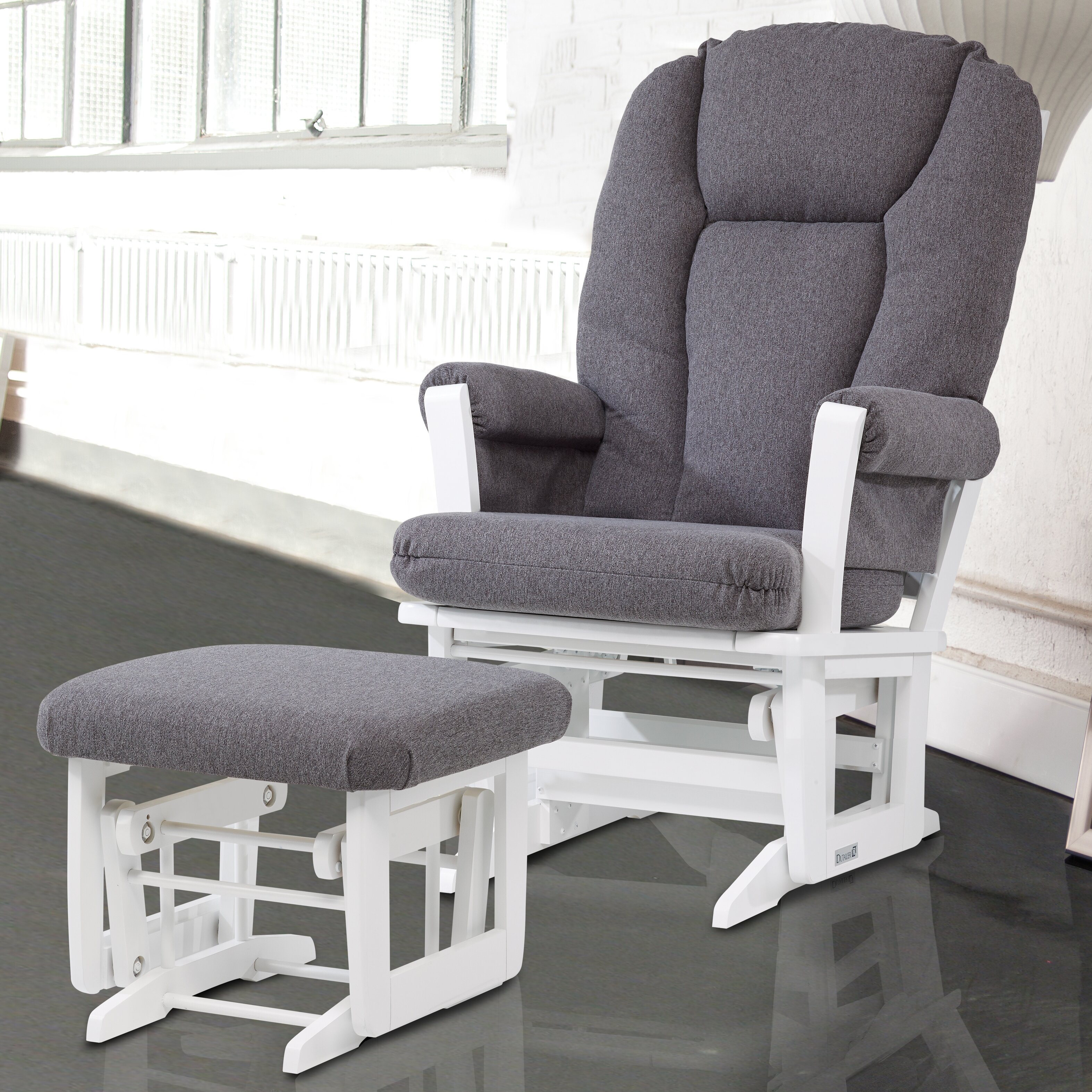 Superb img of Dutailier Ultramotion Modern Glider and Ottoman & Reviews Wayfair with #71665A color and 3147x3147 pixels