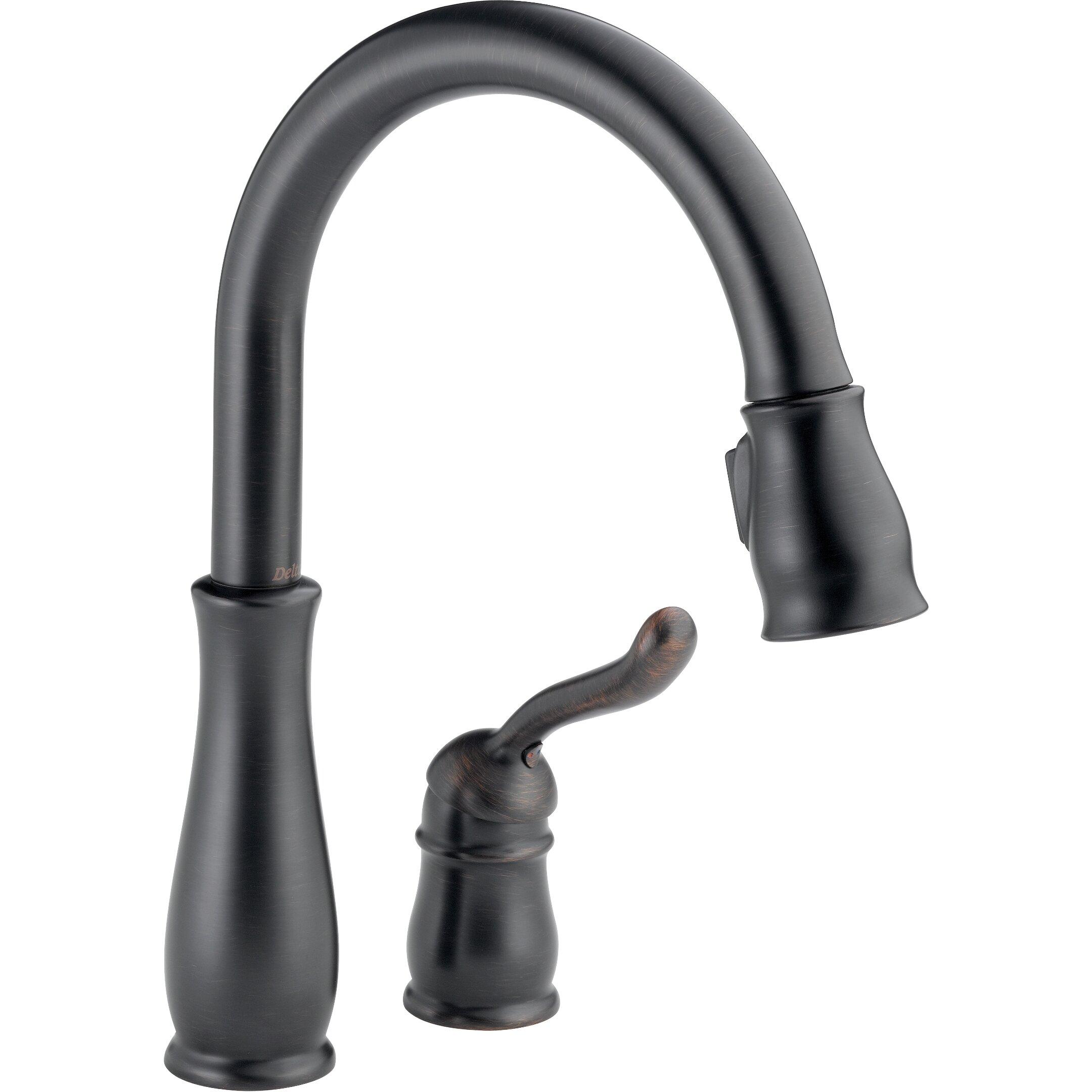 delta leland single handle pull down standard kitchen delta leland single handle pull down standard kitchen