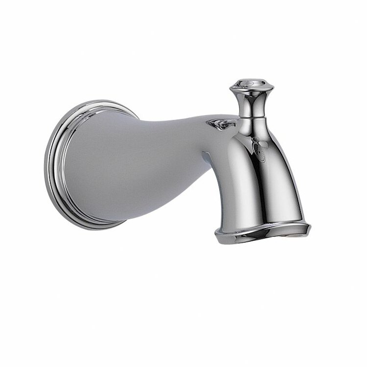 Delta Cassidy Wall Mount Tub Spout With Diverter Reviews Wayfair