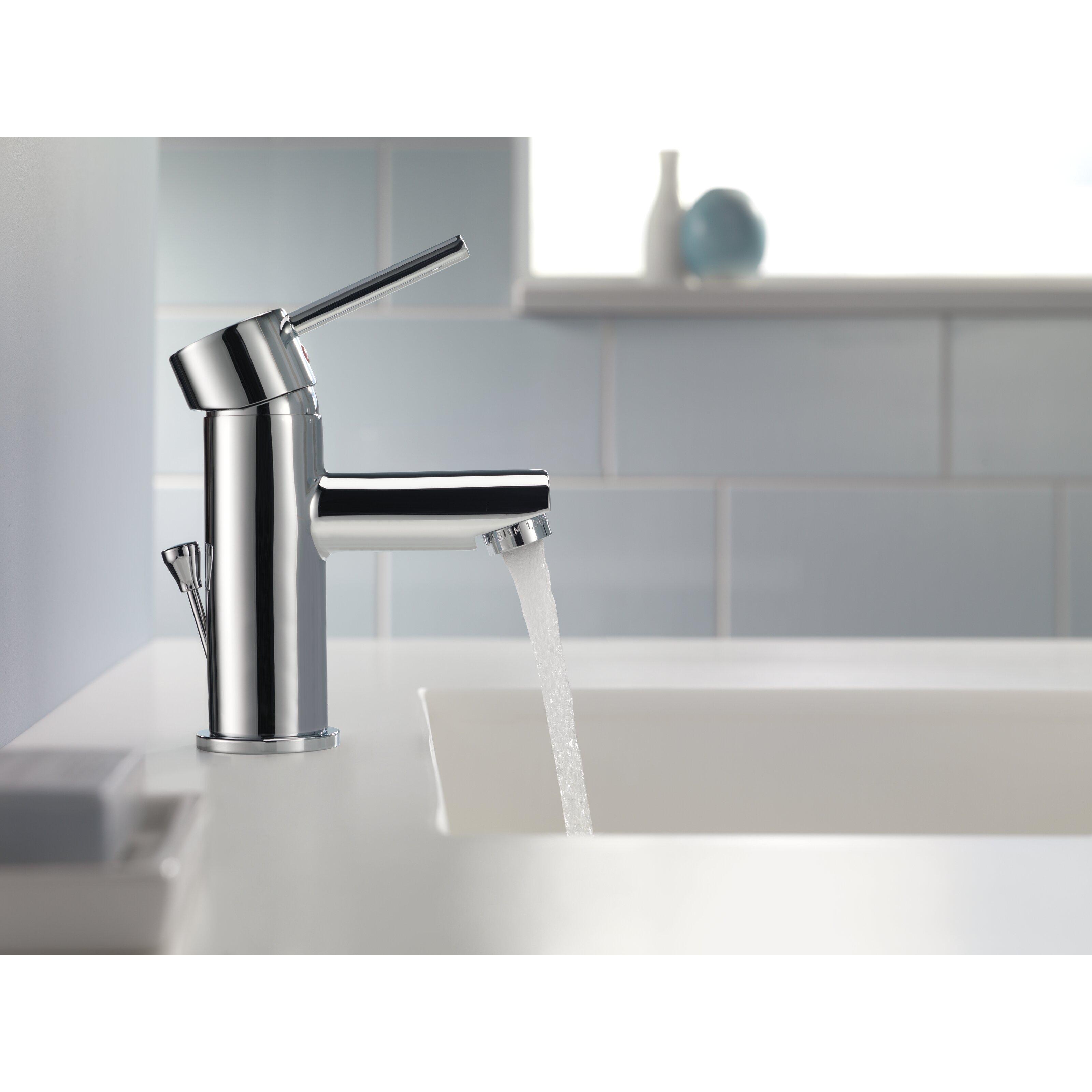 Delta trinsic bathroom single handle single hole lavatory for Delta trinsic bathroom sink faucet