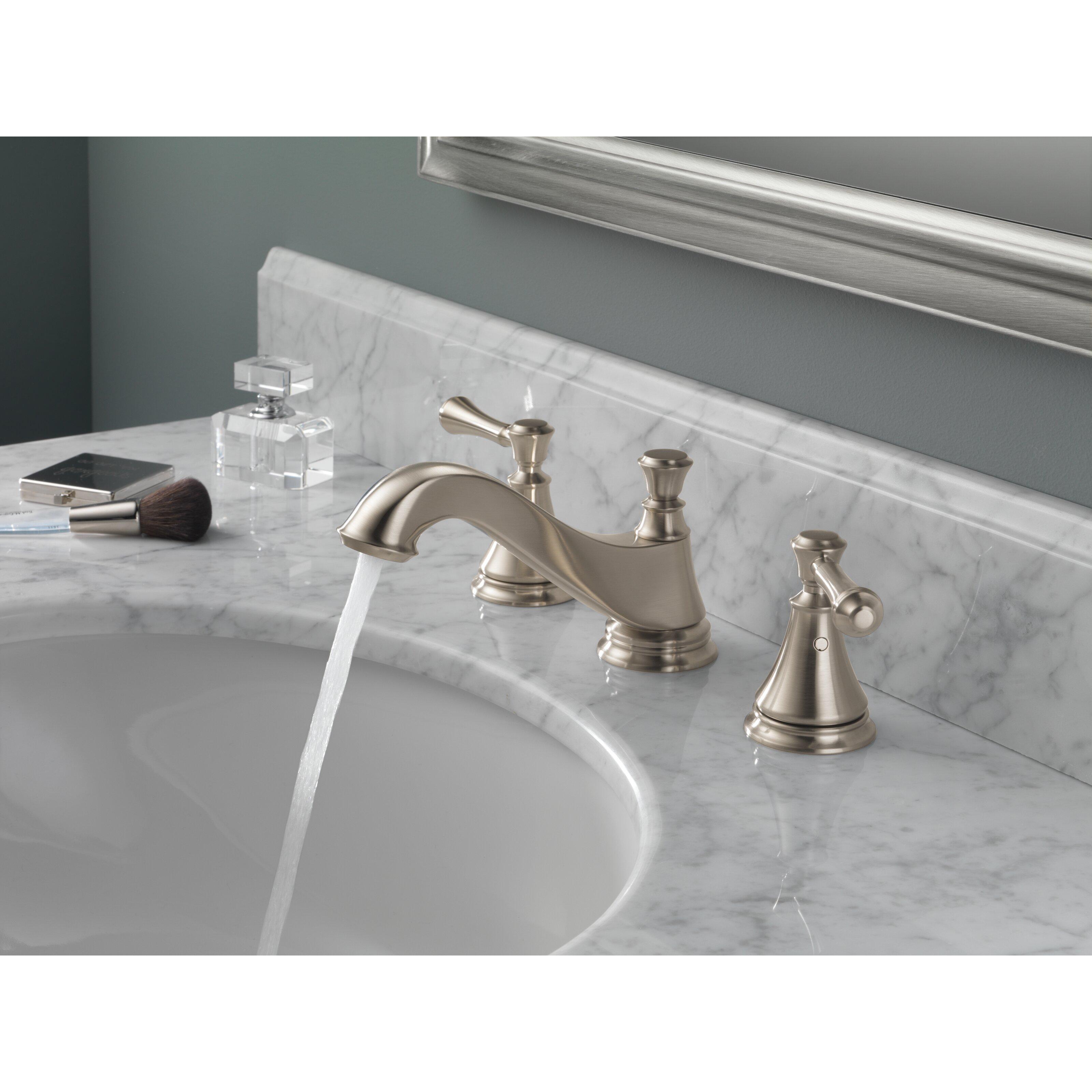 Delta Cassidy Double Handle Widespread Bathroom Faucet