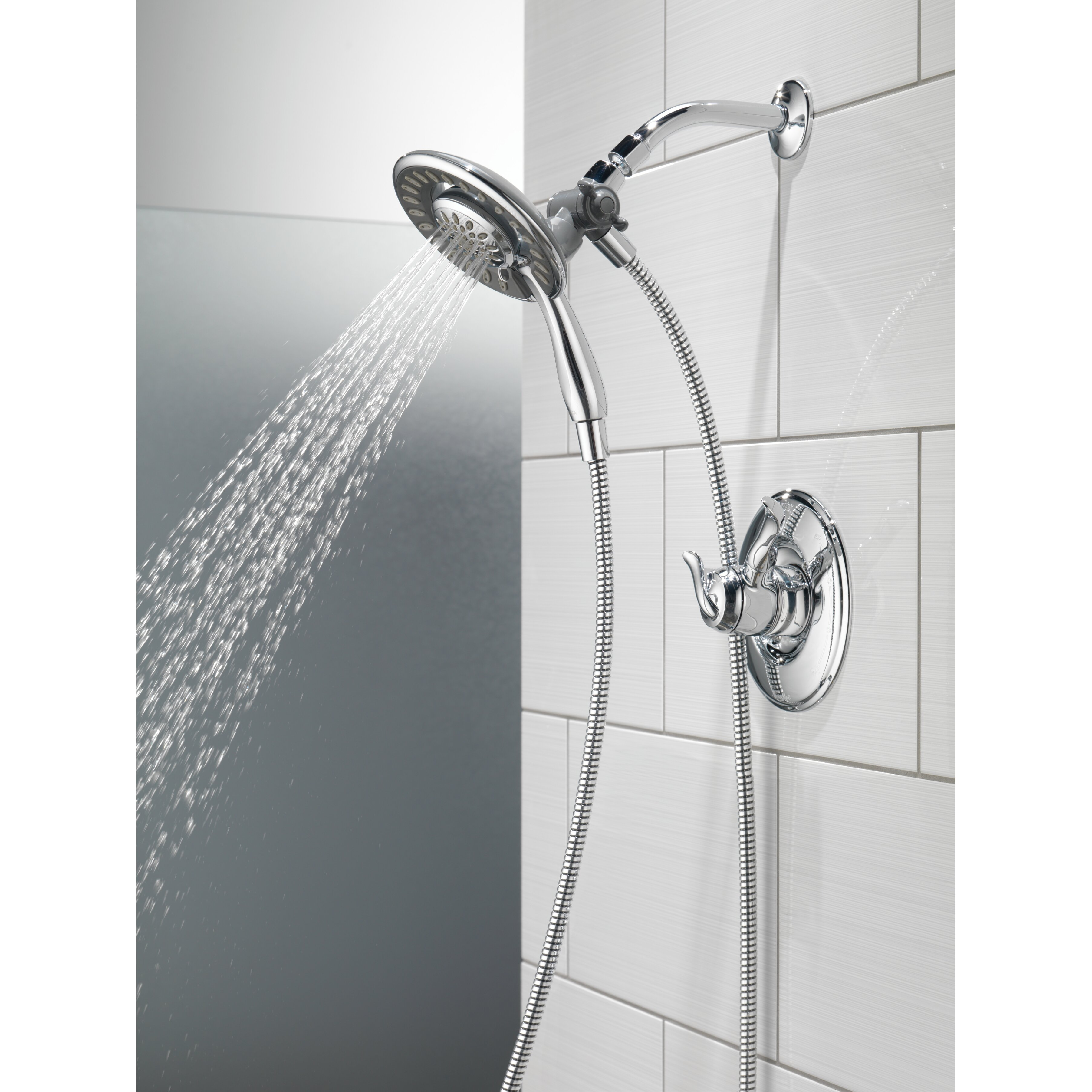 Delta linden dual function complete shower system reviews for Delta bathroom shower systems