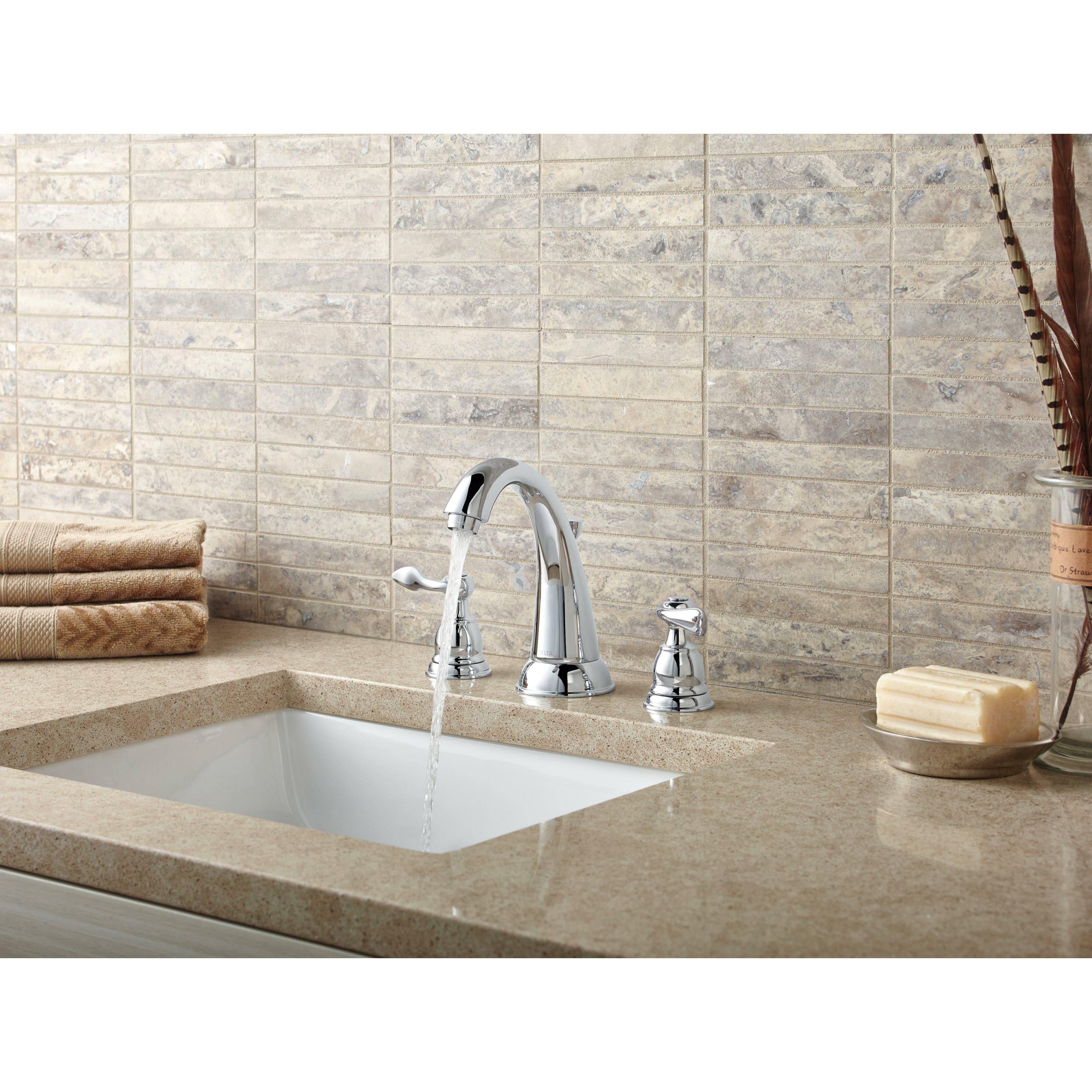 faucets standard p handle stainless delta with spout in kitchen windemere faucet ss side sprayer