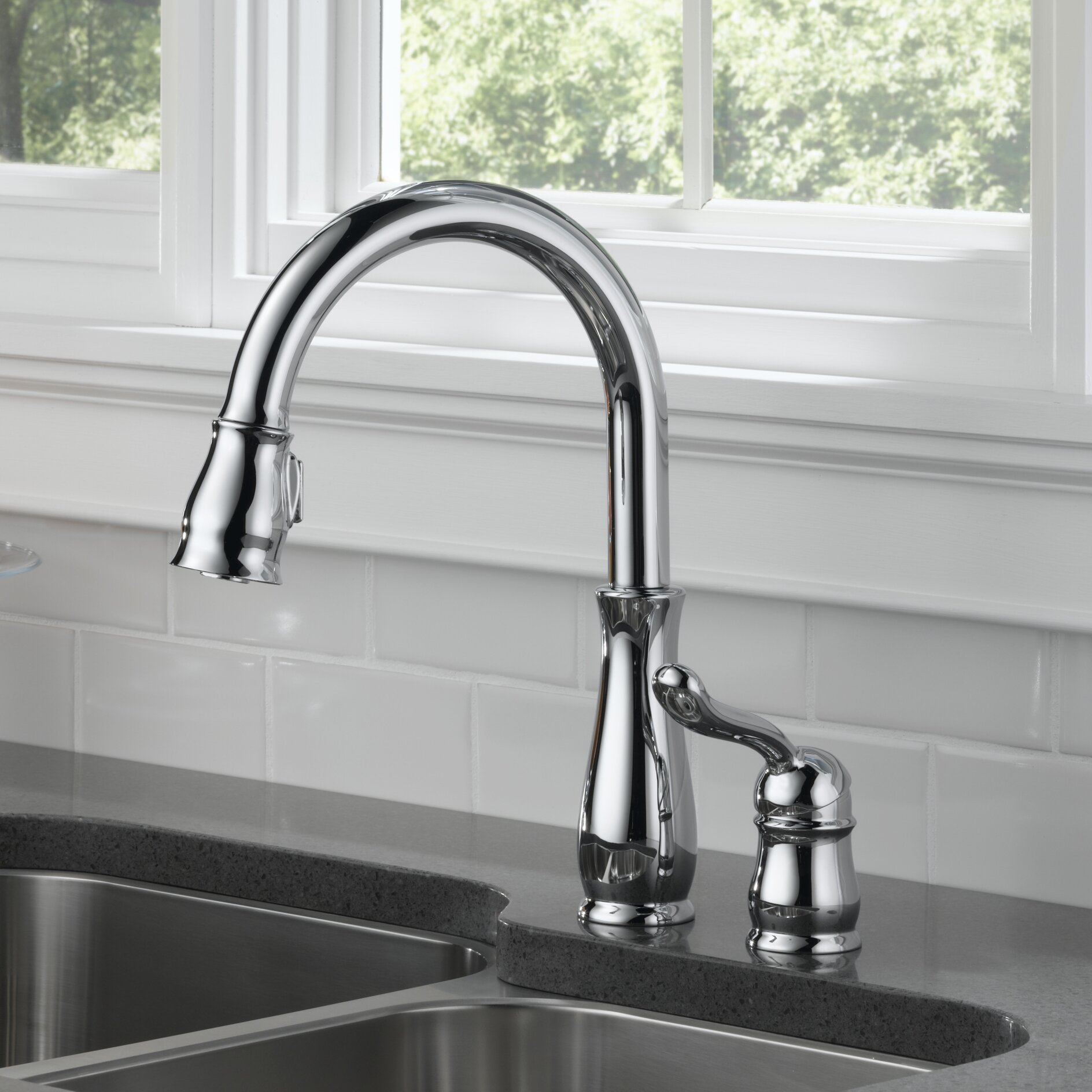 delta leland single handle pull down standard kitchen