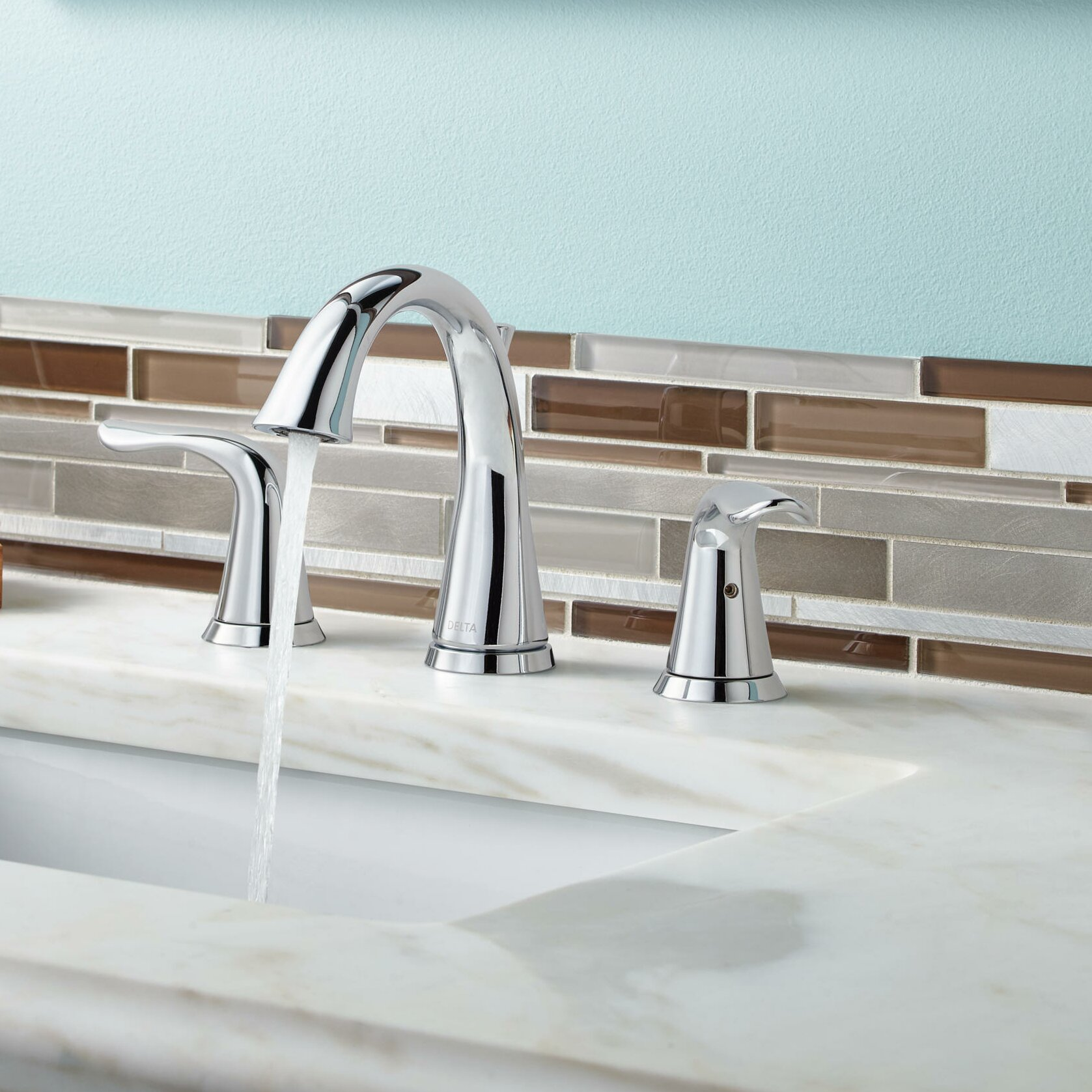 Delta Lahara Double Handle Widespread Bathroom Faucet Reviews Wayfair