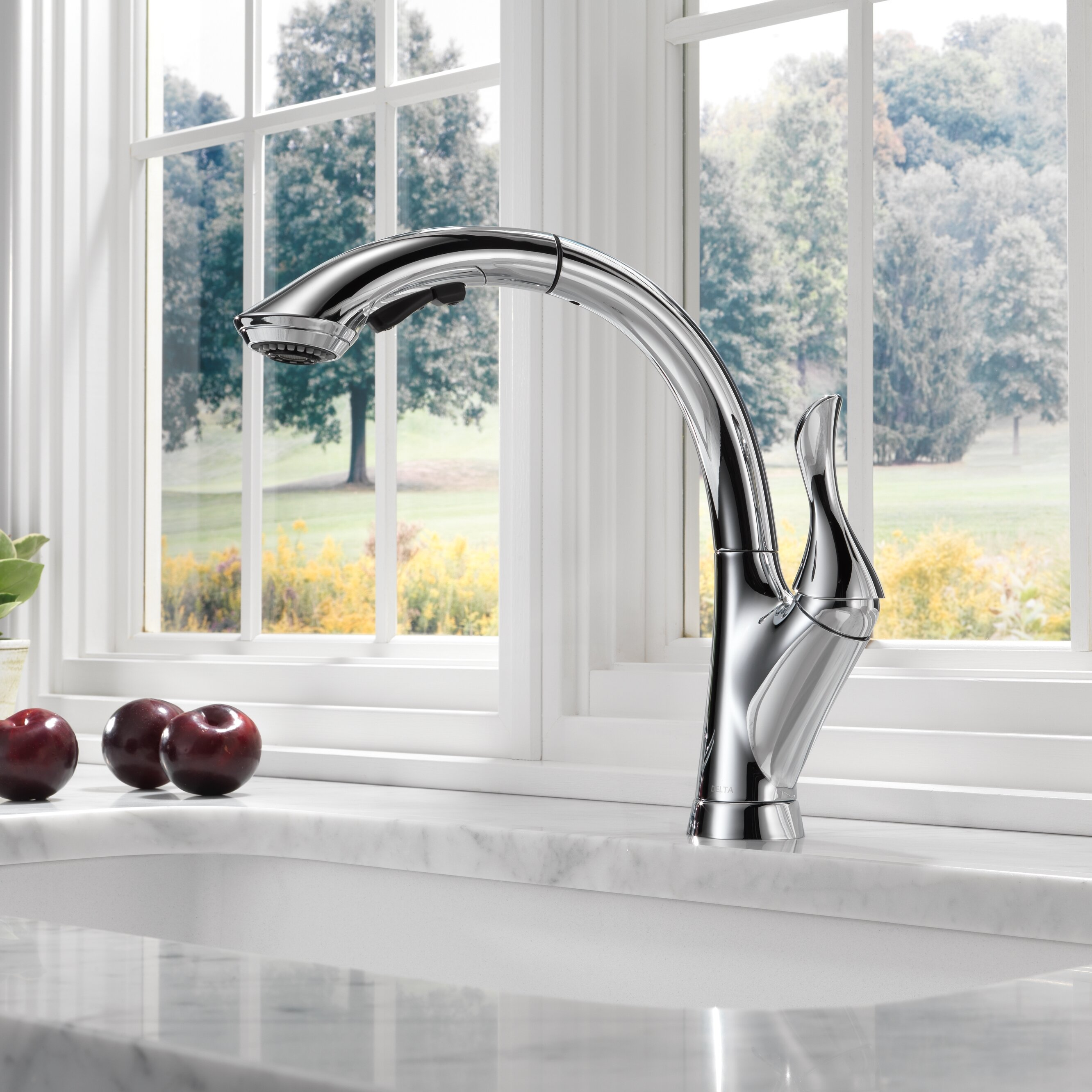 delta linden single handle pull out standard kitchen