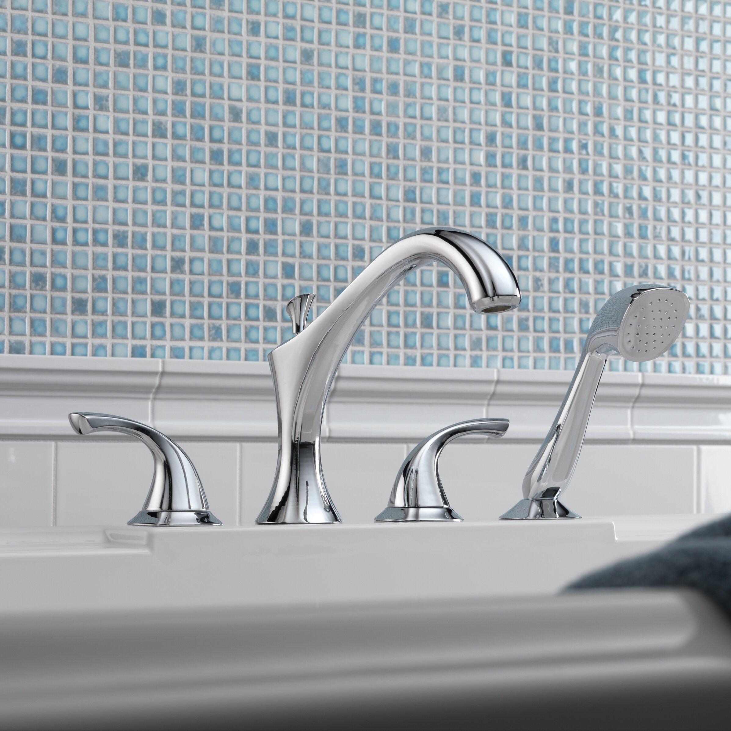 Delta Addison Roman Diverter Tub Faucet Shower Faucet Trim With Hand Shower Reviews