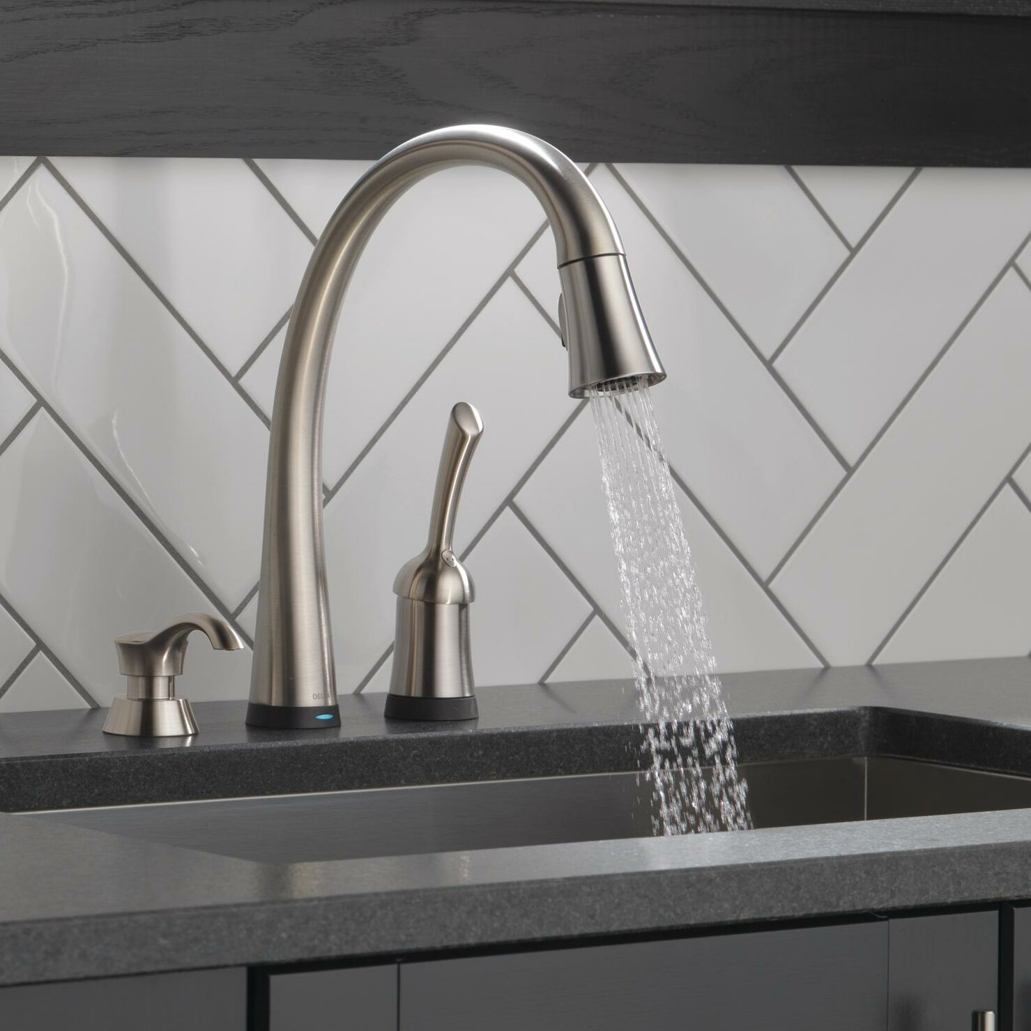 delta pilar single handle standard kitchen faucet with kitchen faucets with touch technology ierie com
