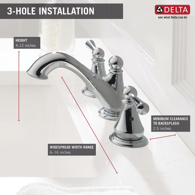 delta haywood double handle widespread bathroom faucet reviews