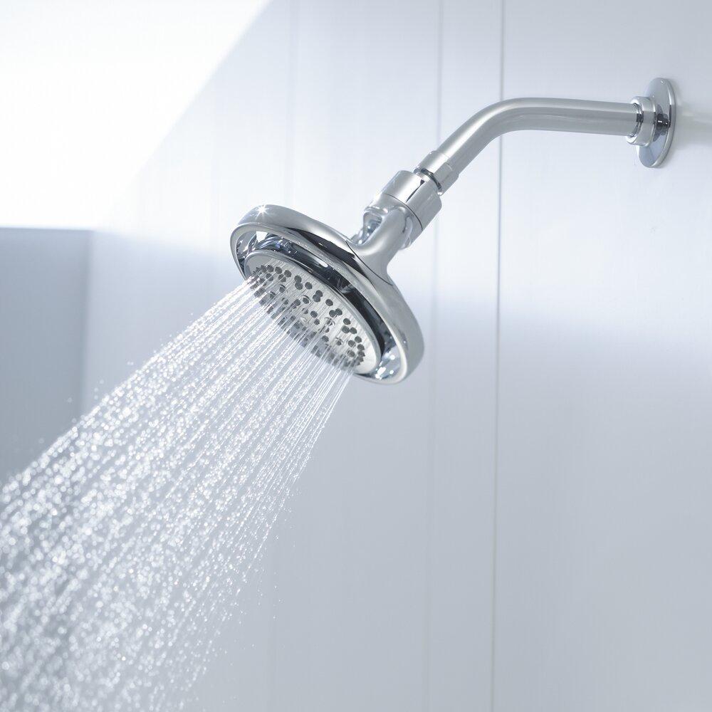 Kohler flipside 2 5 gpm multifunction wall mount shower head reviews - Glass shower head ...