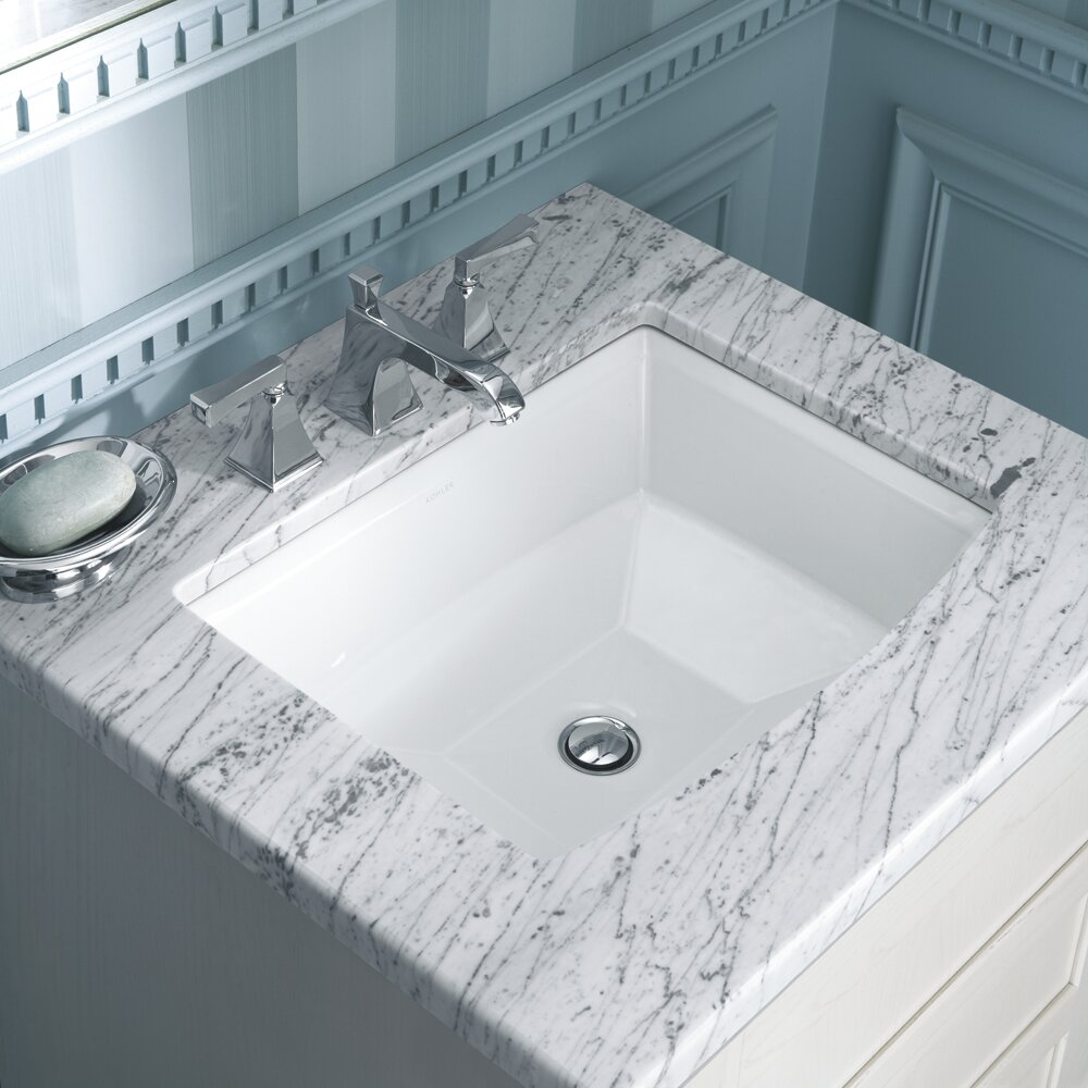Kohler archer undermount bathroom sink reviews wayfair for Bathroom undermount sinks