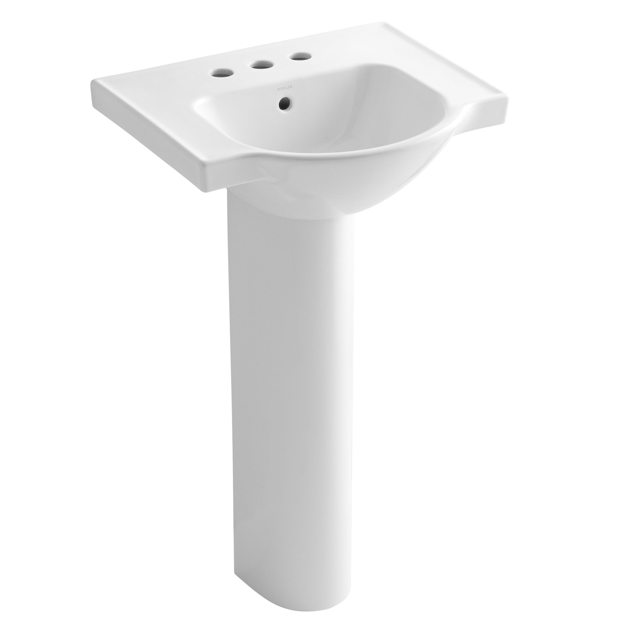 Kohler Veer 24 Pedestal Bathroom Sink Reviews Wayfair