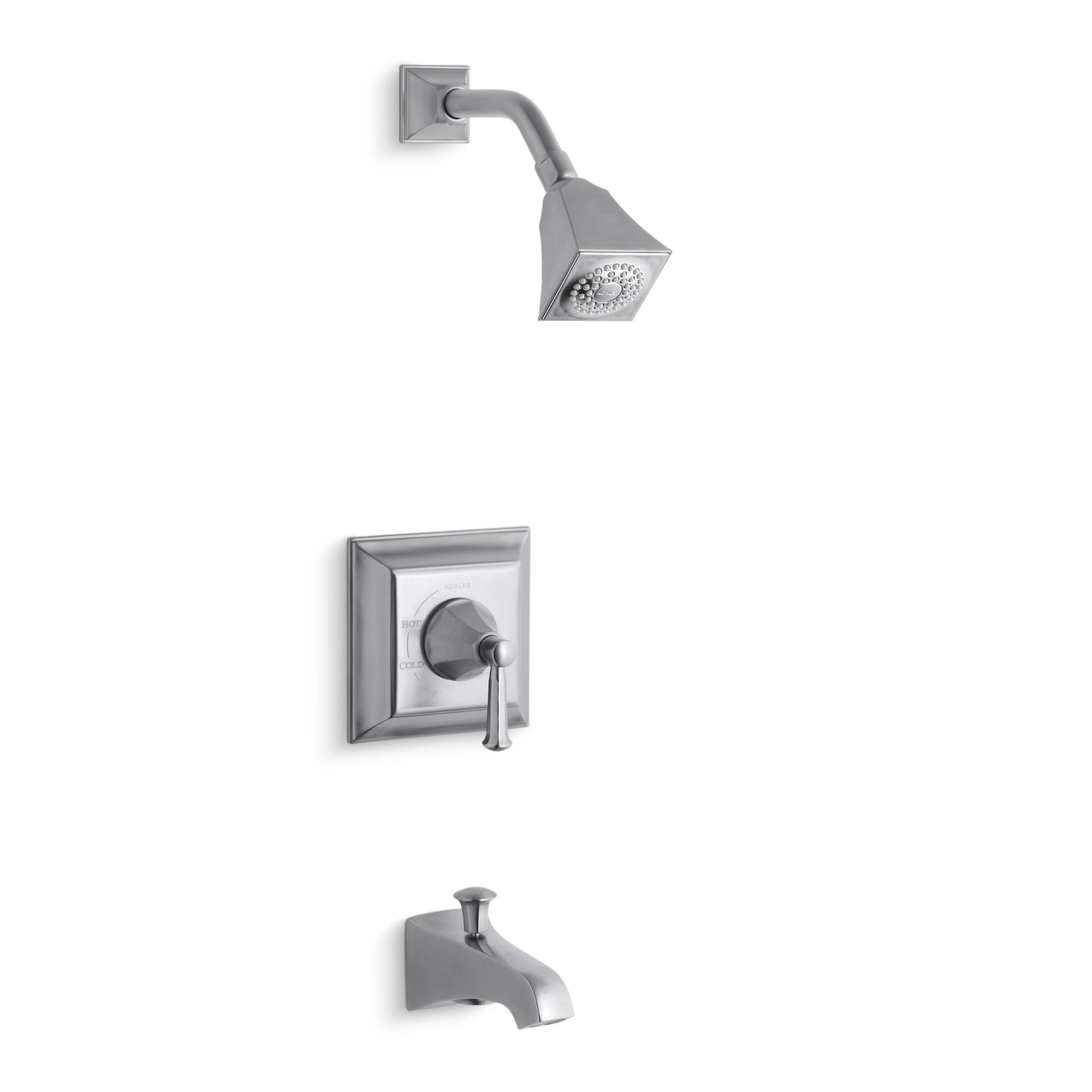 Kohler Shower Valve. Finial Traditional Ritetemp Pressure Balance ... - kohler memoirs stately ritetemp bath and shower faucet trim with lever