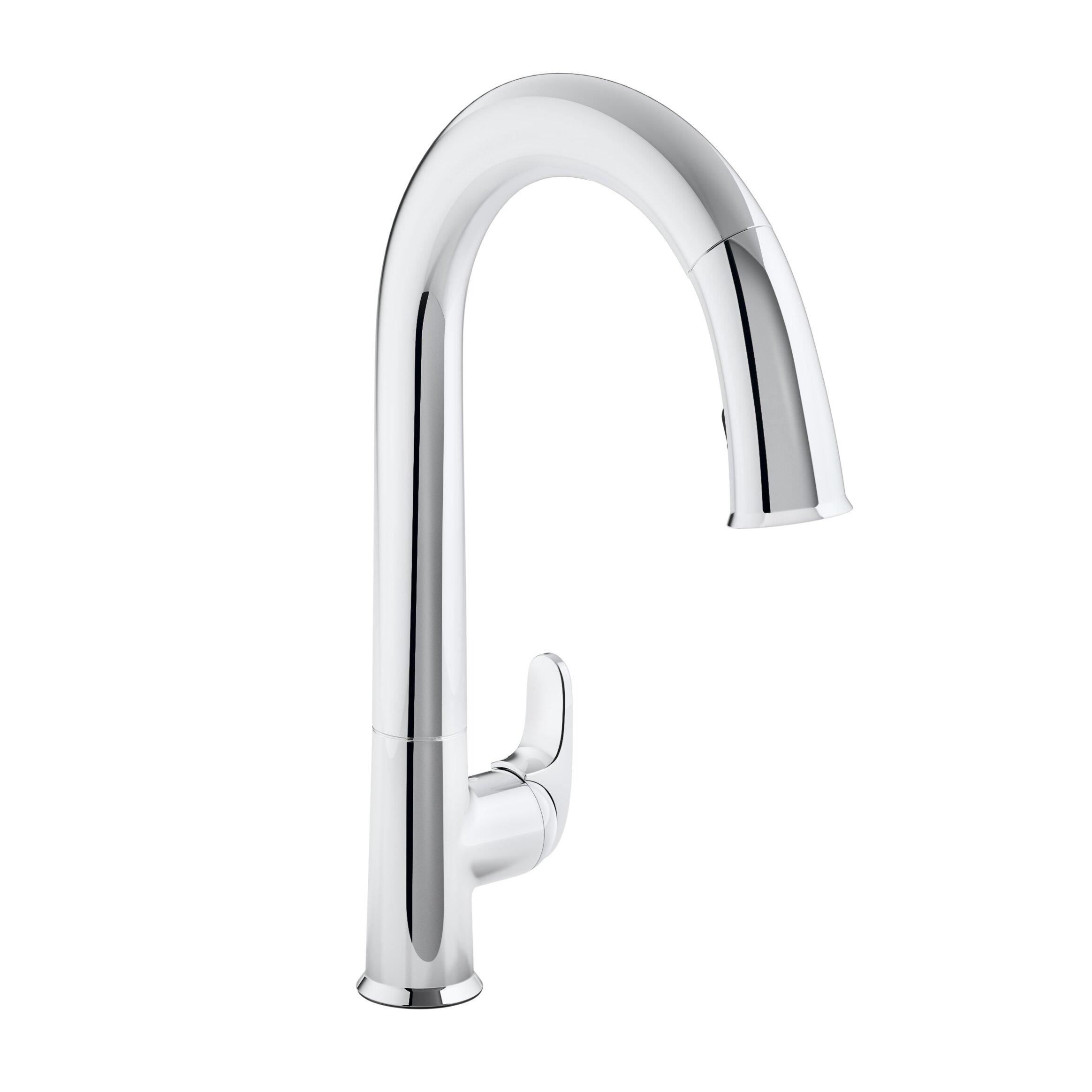 "Kohler Kitchen Faucet Parts Lookup: Kohler Sensate Touchless Kitchen Faucet With 15-1/2"" Pull"