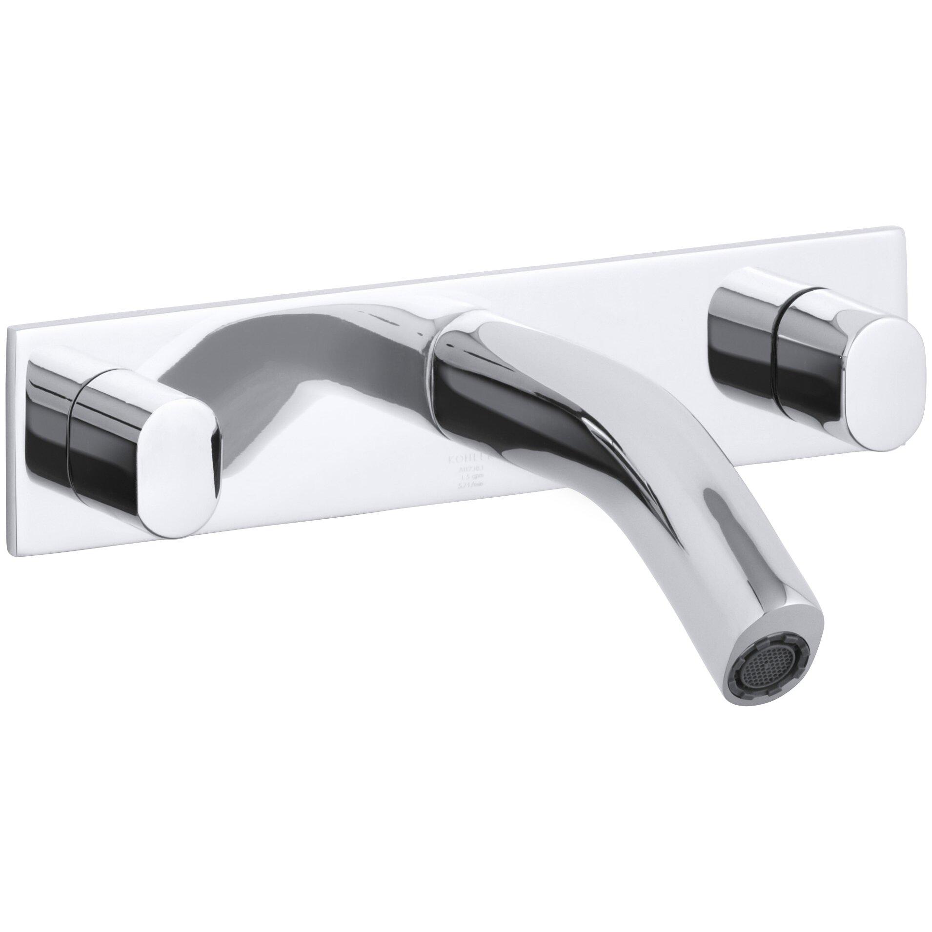 Kohler oblo wall mount bathroom sink faucet wayfair for Kohler wall mount bathroom faucet