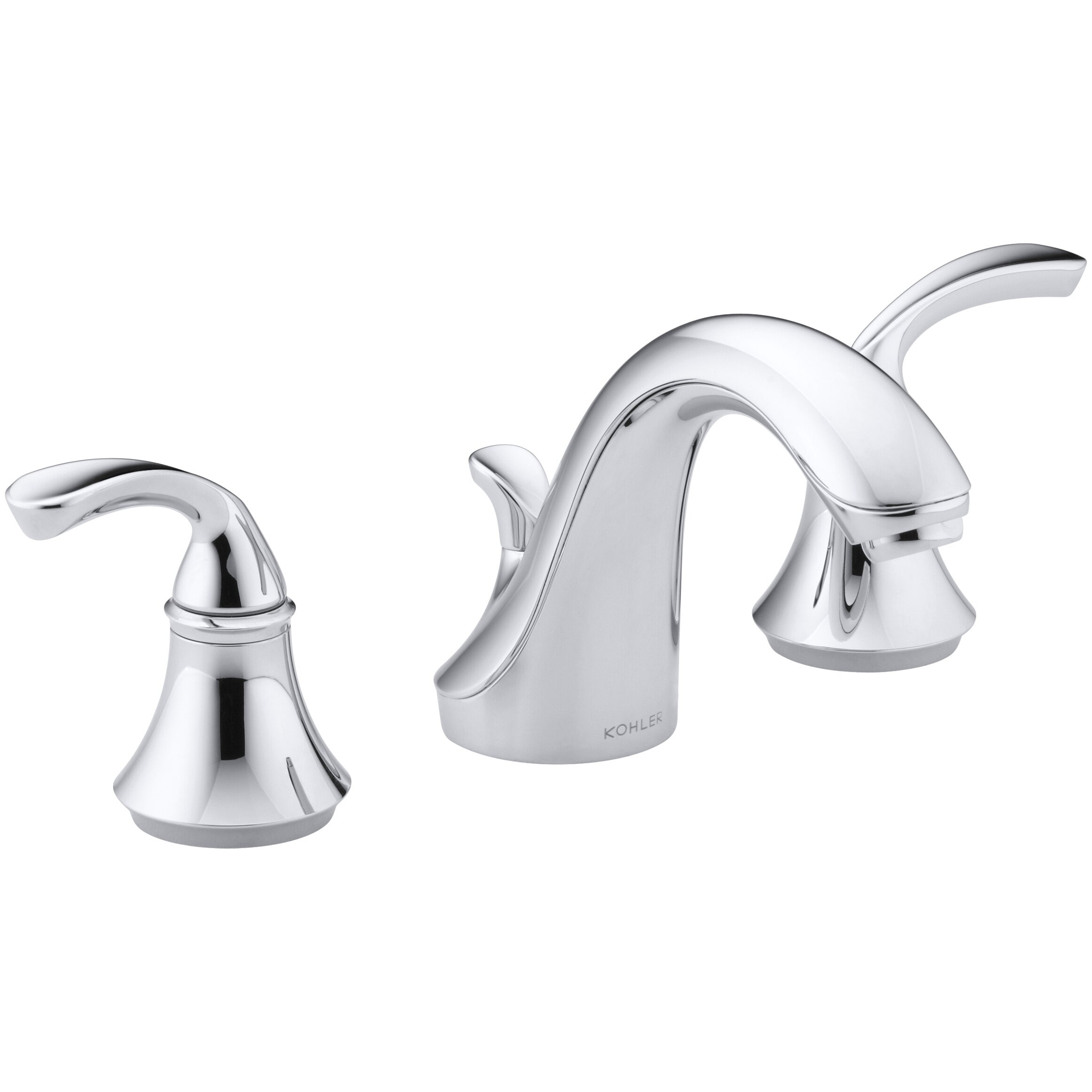 Kohler Faucet Reviews : ... Widespread Bathroom Sink Faucet with Sculpted Lever Handles by Kohler