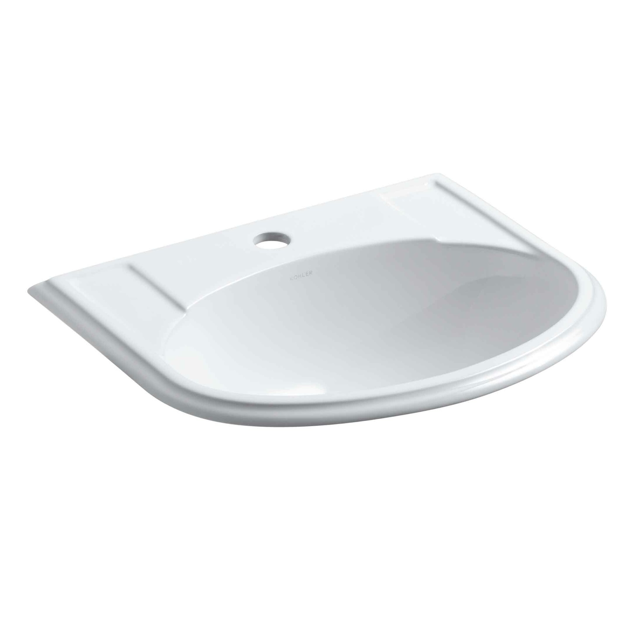 Kohler Devonshire Drop-In Bathroom Sink with Single Faucet Hole ...