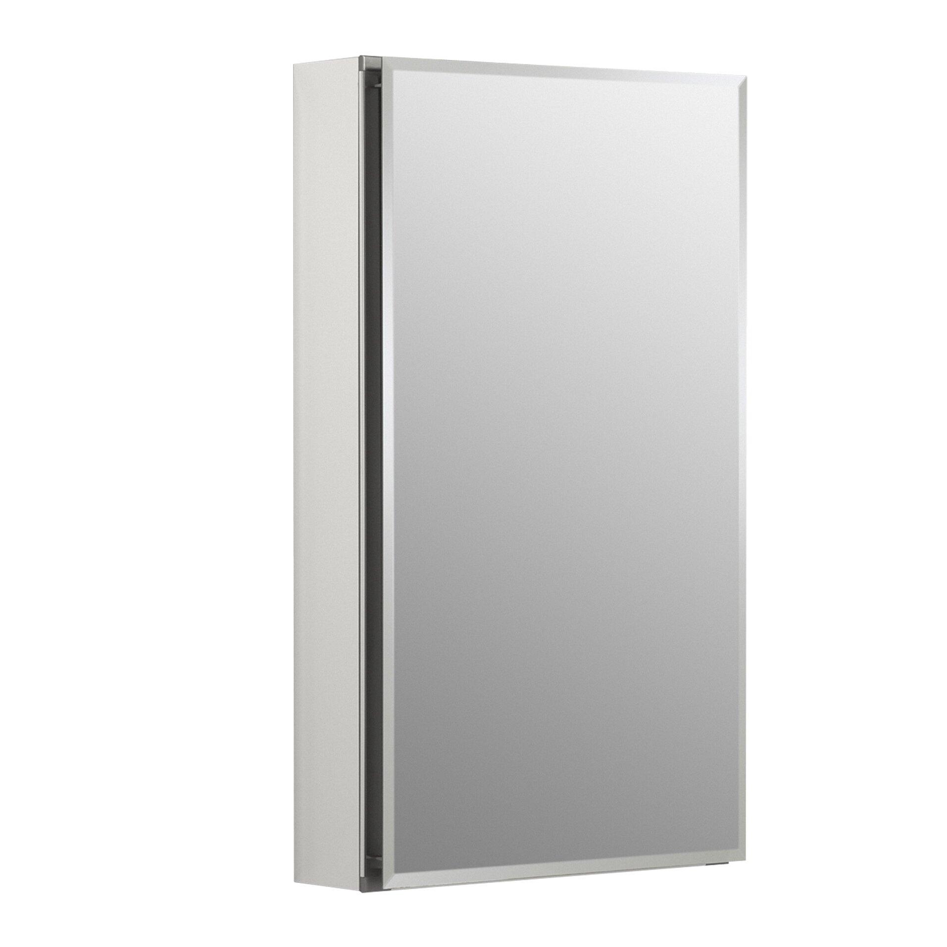 kohler 15 w x 26 h aluminum single door medicine cabinet. Black Bedroom Furniture Sets. Home Design Ideas