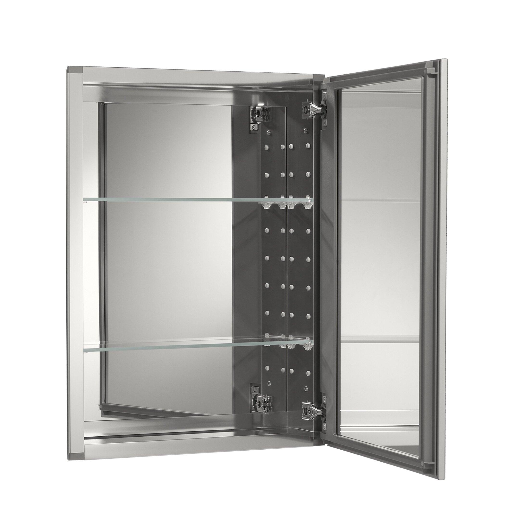 Kohler 20 X 26 Aluminum Mirrored Medicine Cabinet Reviews Wayfair