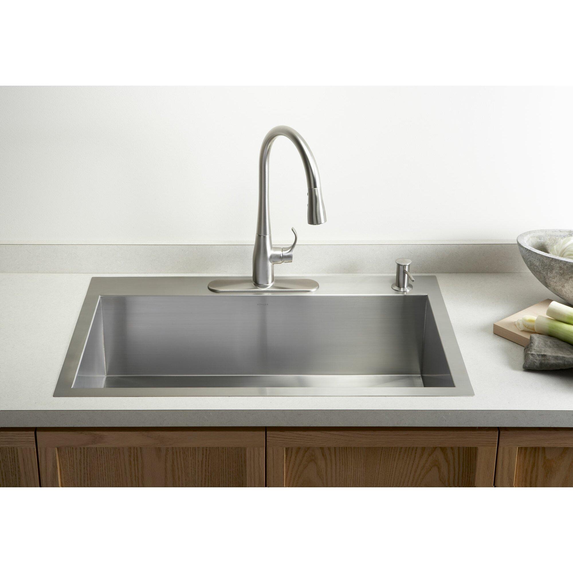 Bowl Sink Faucet : Home Improvement Kitchen Fixtures ... Undermount Kitchen Sinks Kohler ...