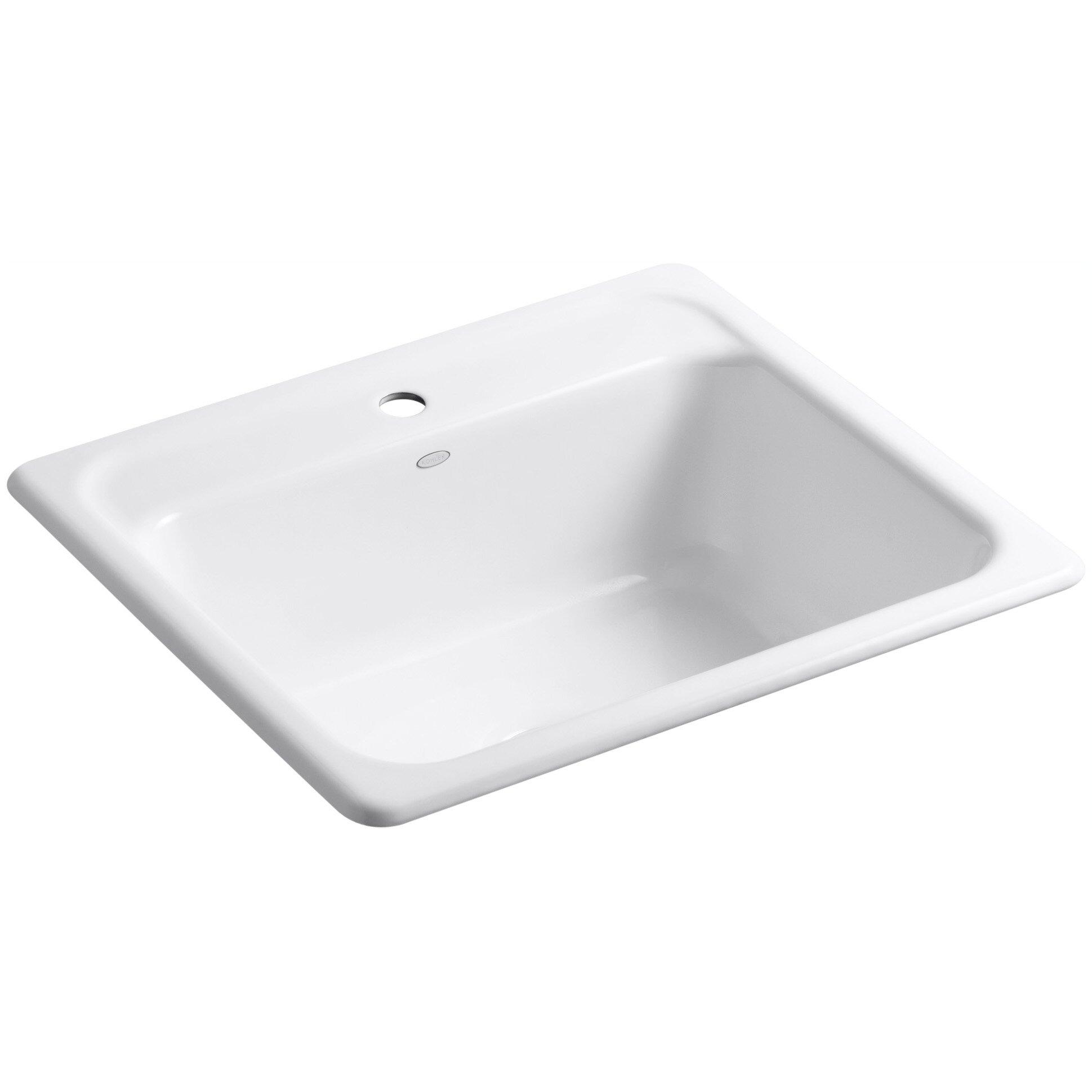 "Top Mount Sink Kitchen: Kohler Mayfield 25"" X 22"" X 8-3/4"" Top-Mount Single-Bowl"