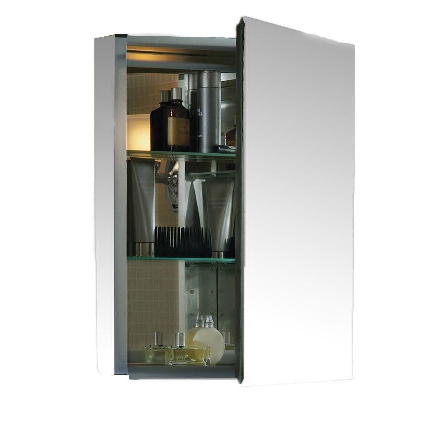 kohler 20 x 26 aluminum medicine cabinet with mirrored. Black Bedroom Furniture Sets. Home Design Ideas