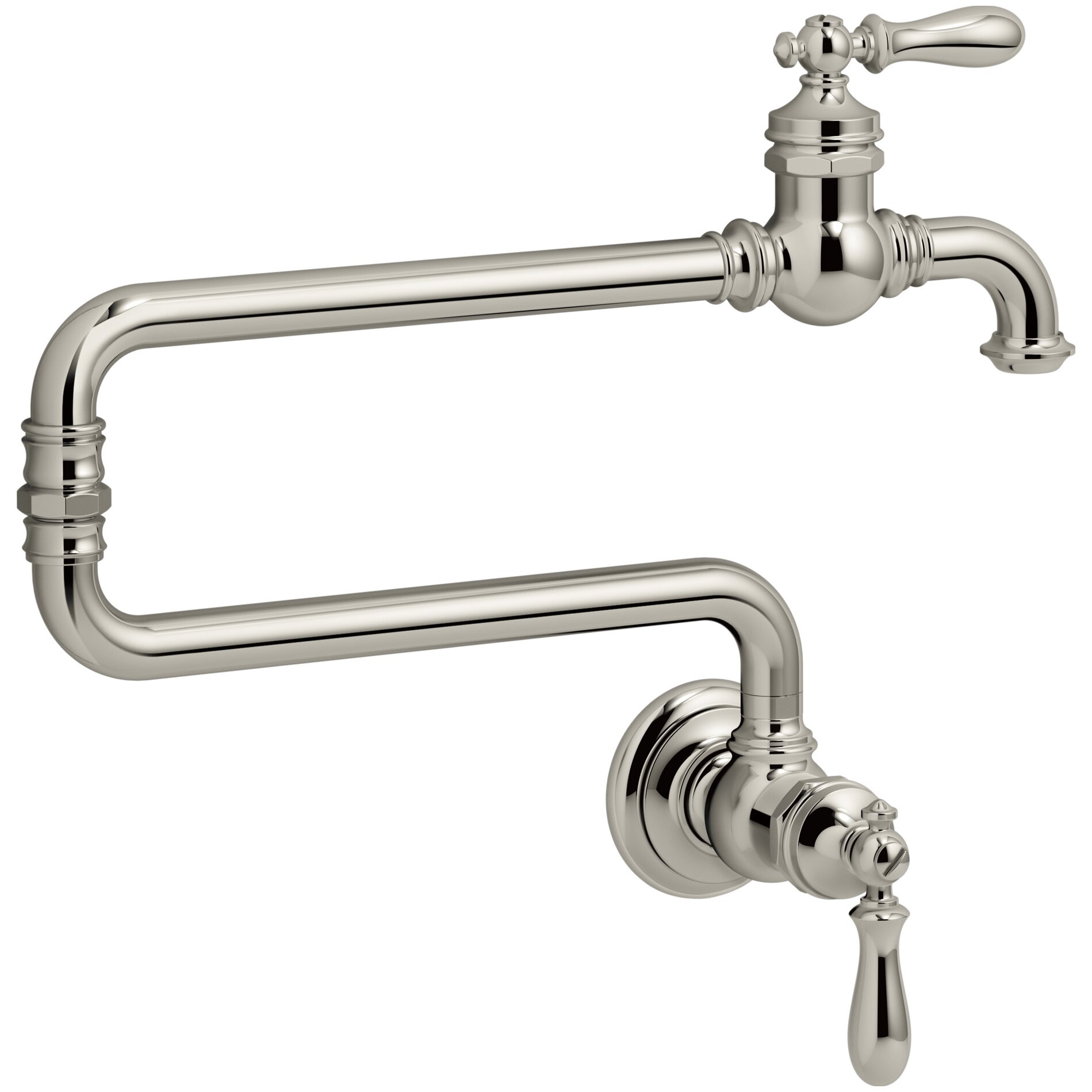 Kohler Artifacts(R) Single-Hole Wall-Mount Pot Filler Kitchen Sink ...