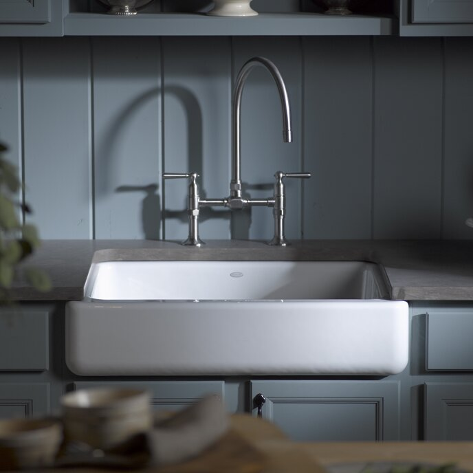 "Dream Kitchen Sink: Kohler Whitehaven Self-Trimming 29-1/2"" X 21-9/16"" X 9-5/8"