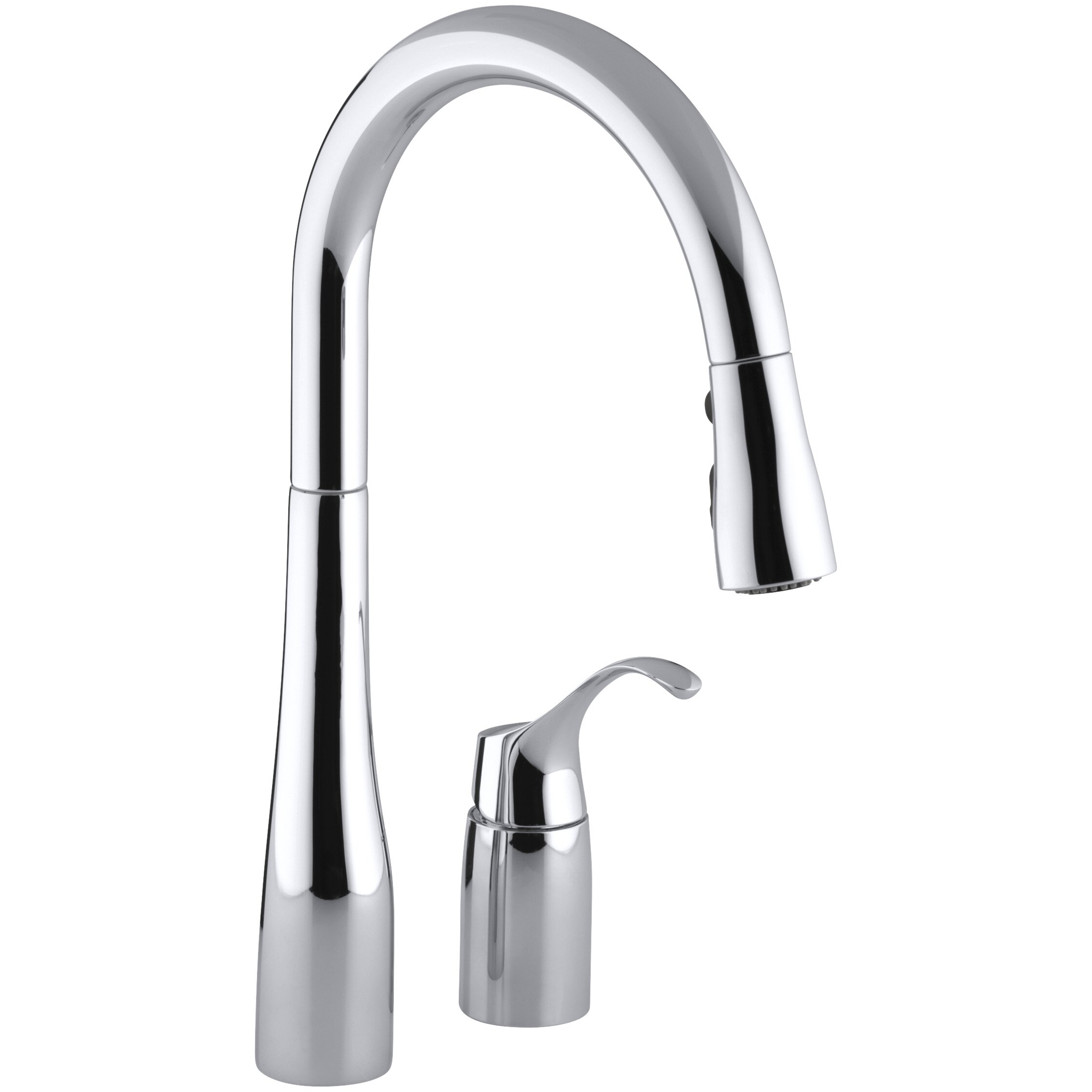 kohler kitchen sink faucet kohler simplice two kitchen sink faucet with 16 1 8 6690