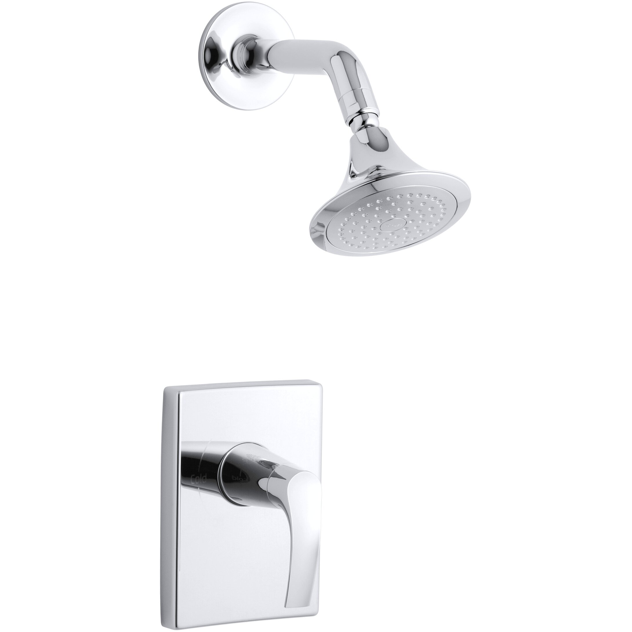 Kohler Faucet Reviews : Kohler Symbol Rite-Temp Pressure-Balancing Shower Faucet Trim, Valve ...
