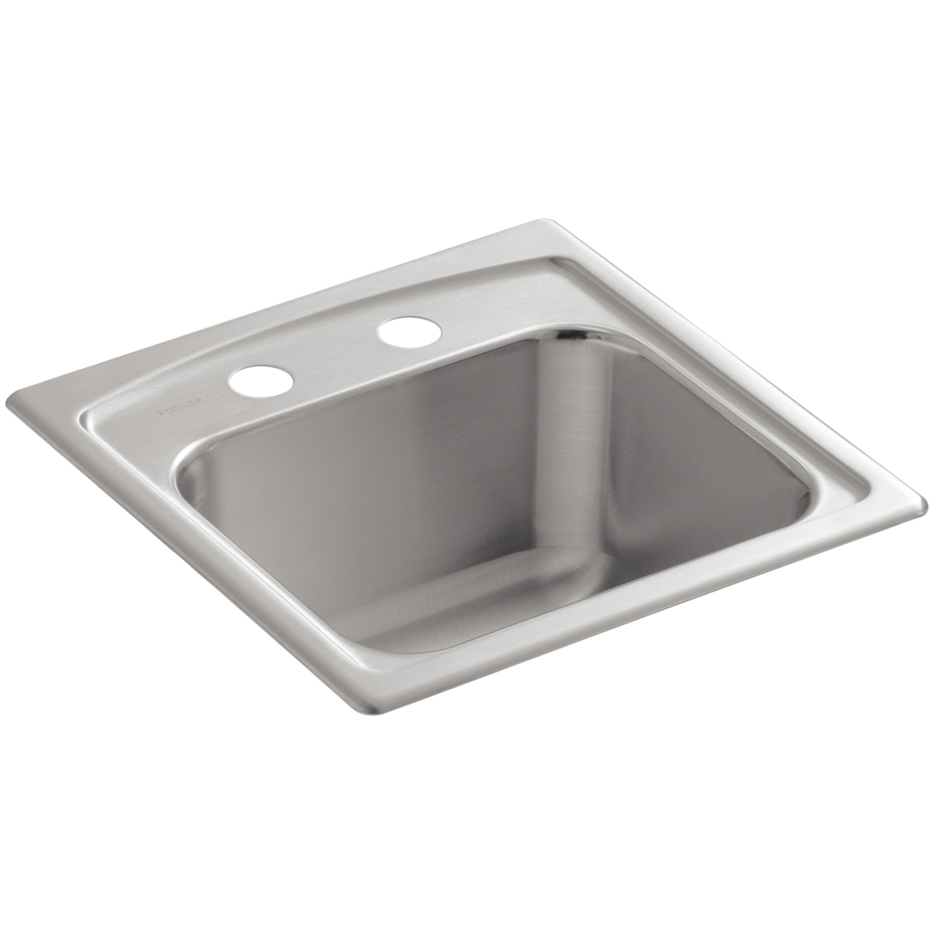 Kohler Toccata Top-Mount Bar Sink with 2 Faucet Holes & Reviews ...