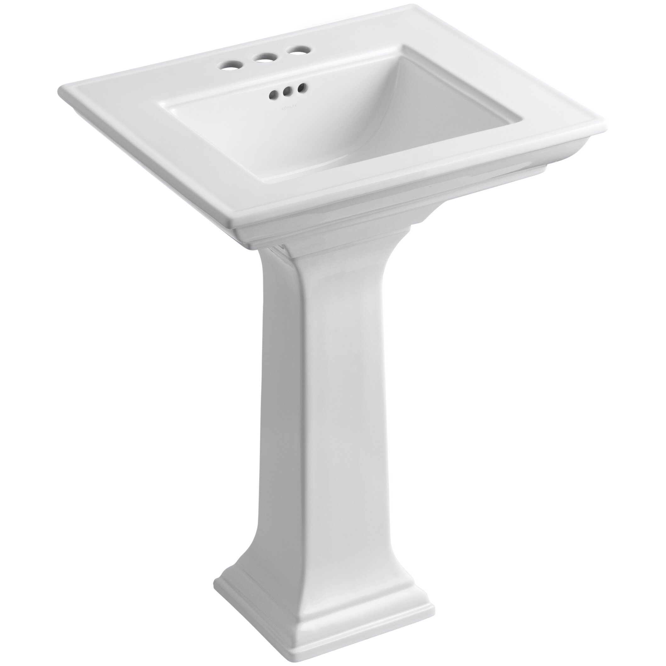 kohler bathroom sinks kohler memoirs stately 24 quot pedestal bathroom sink 13384