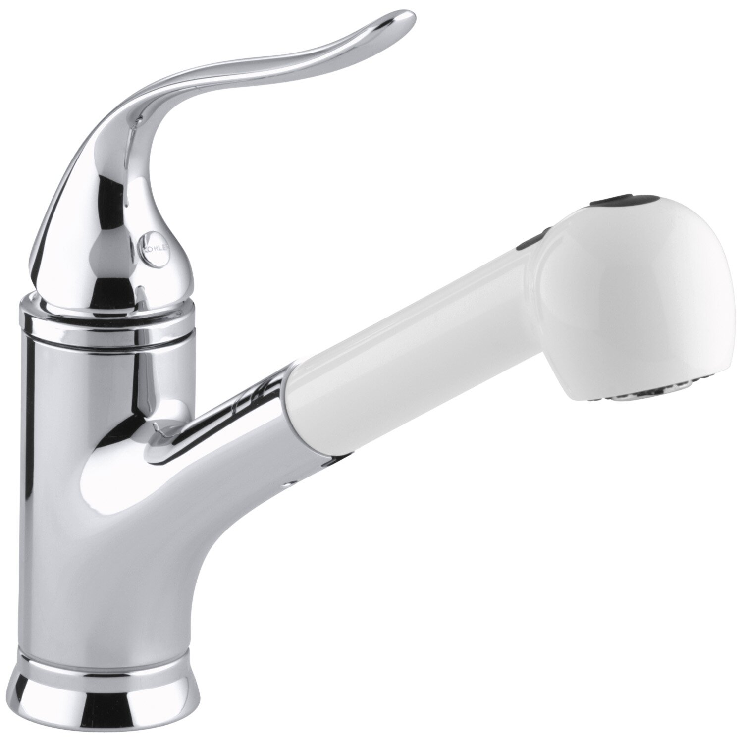 Kohler White Kitchen Faucet : Kohler Coralais Single-Hole or Three-Hole Kitchen Sink Faucet with ...