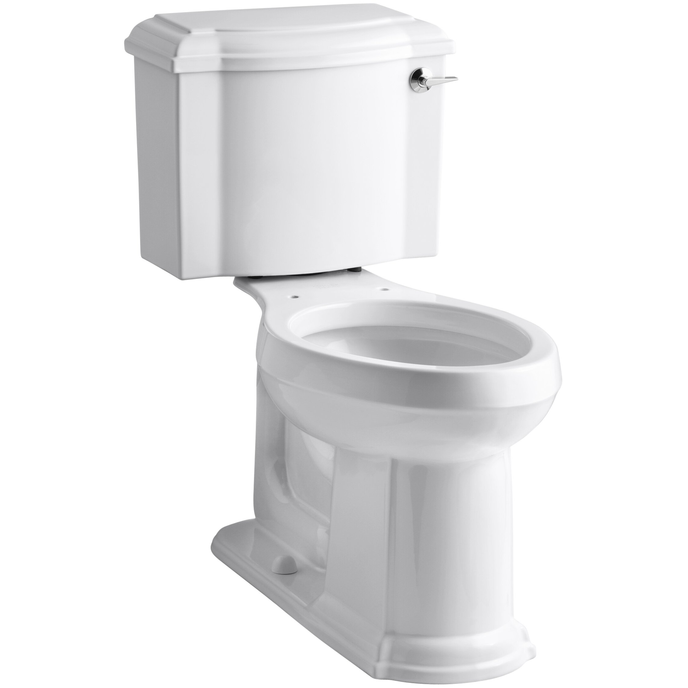Kohler devonshire comfort height two piece elongated gpf toilet with aquapiston flush - Kohler devonshire reviews ...