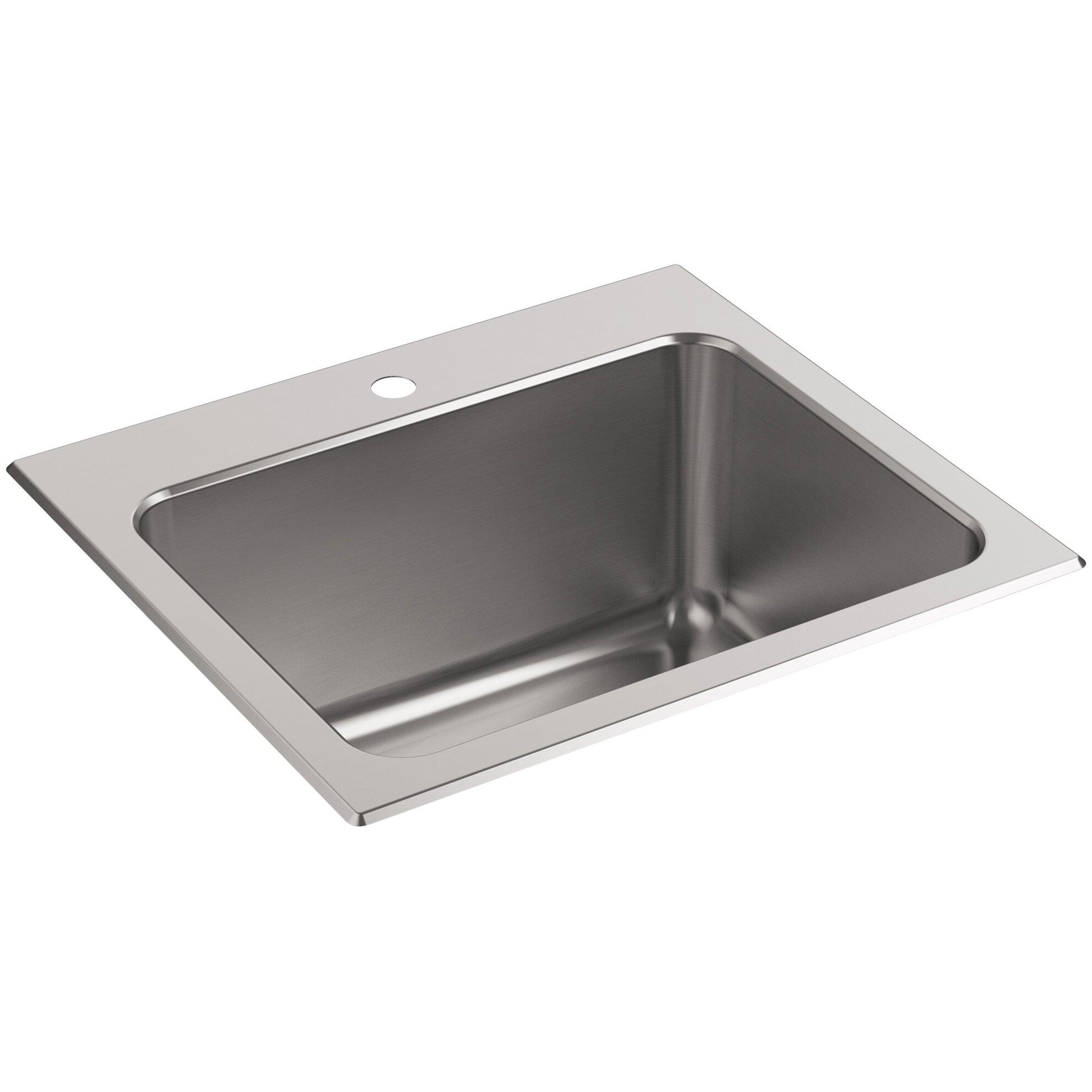 Kohler Ballad Top-Mount Utility Sink with Single Faucet Hole Wayfair