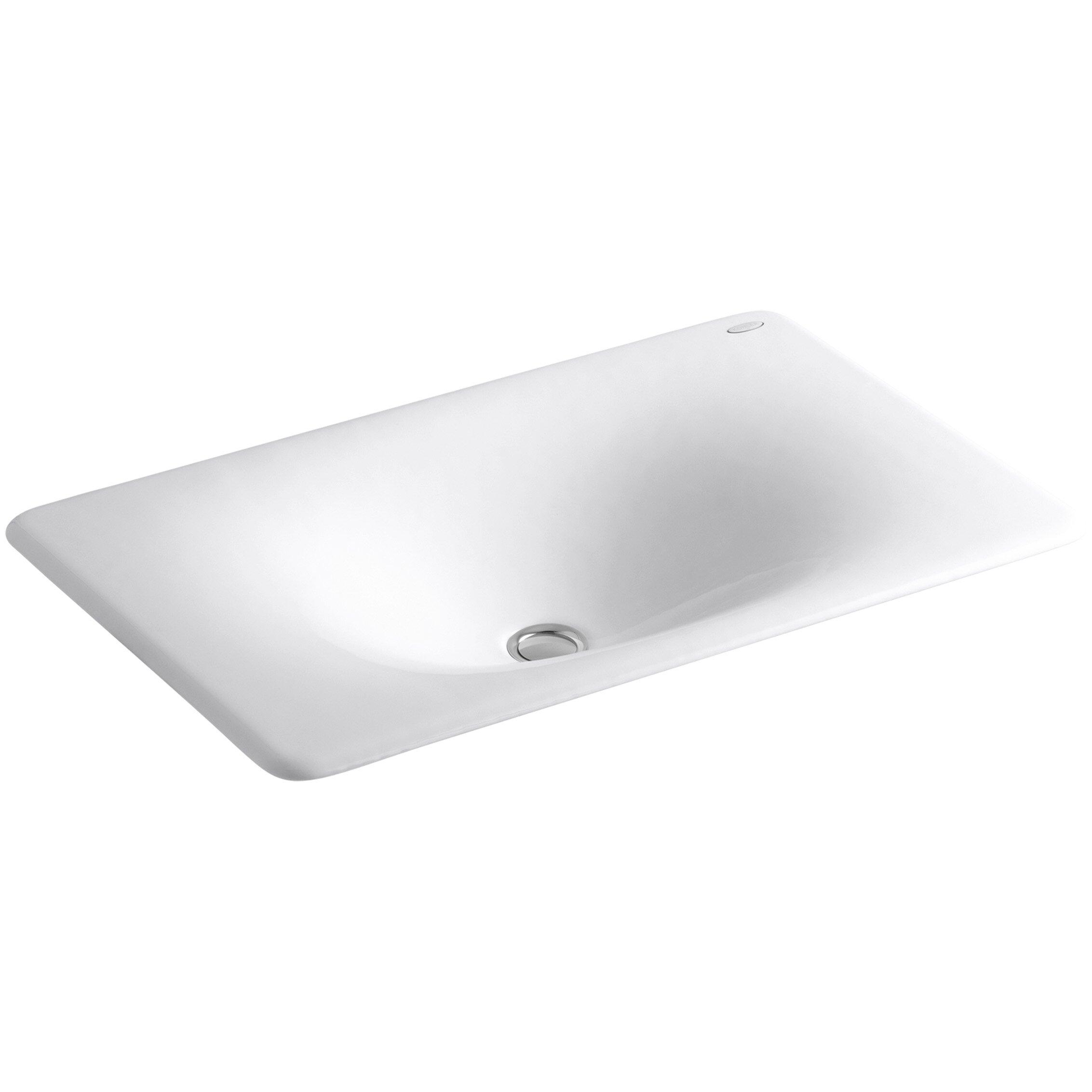 Kohler Iron Tones Drop In Undermount Bathroom Sink