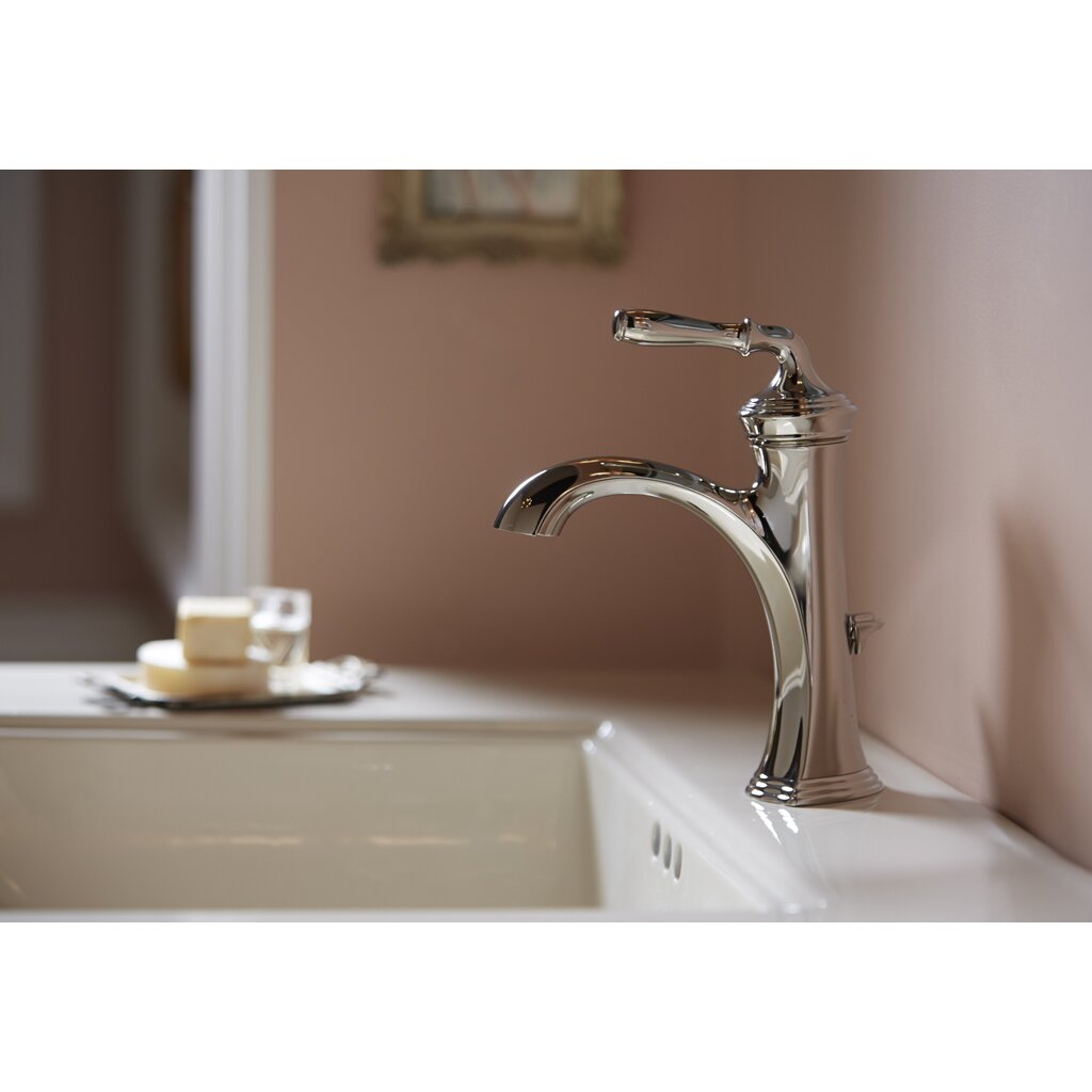 Kohler devonshire single handle bathroom sink faucet for Plumbing bathroom sink