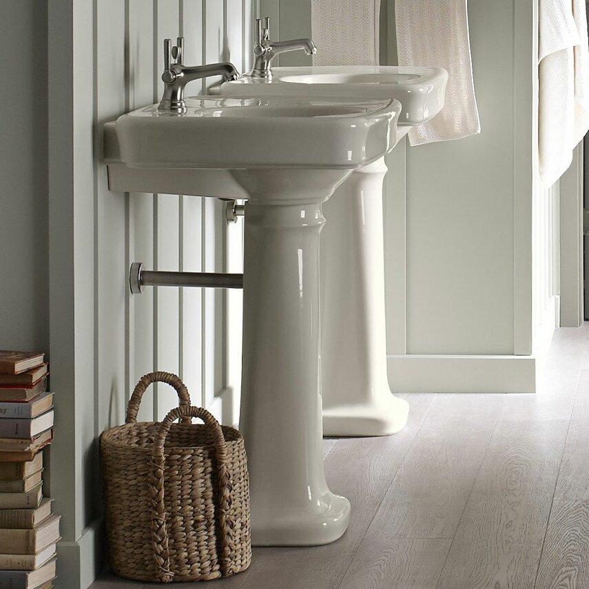 Kohler Bancroft 24 Quot Pedestal Bathroom Sink Amp Reviews Wayfair
